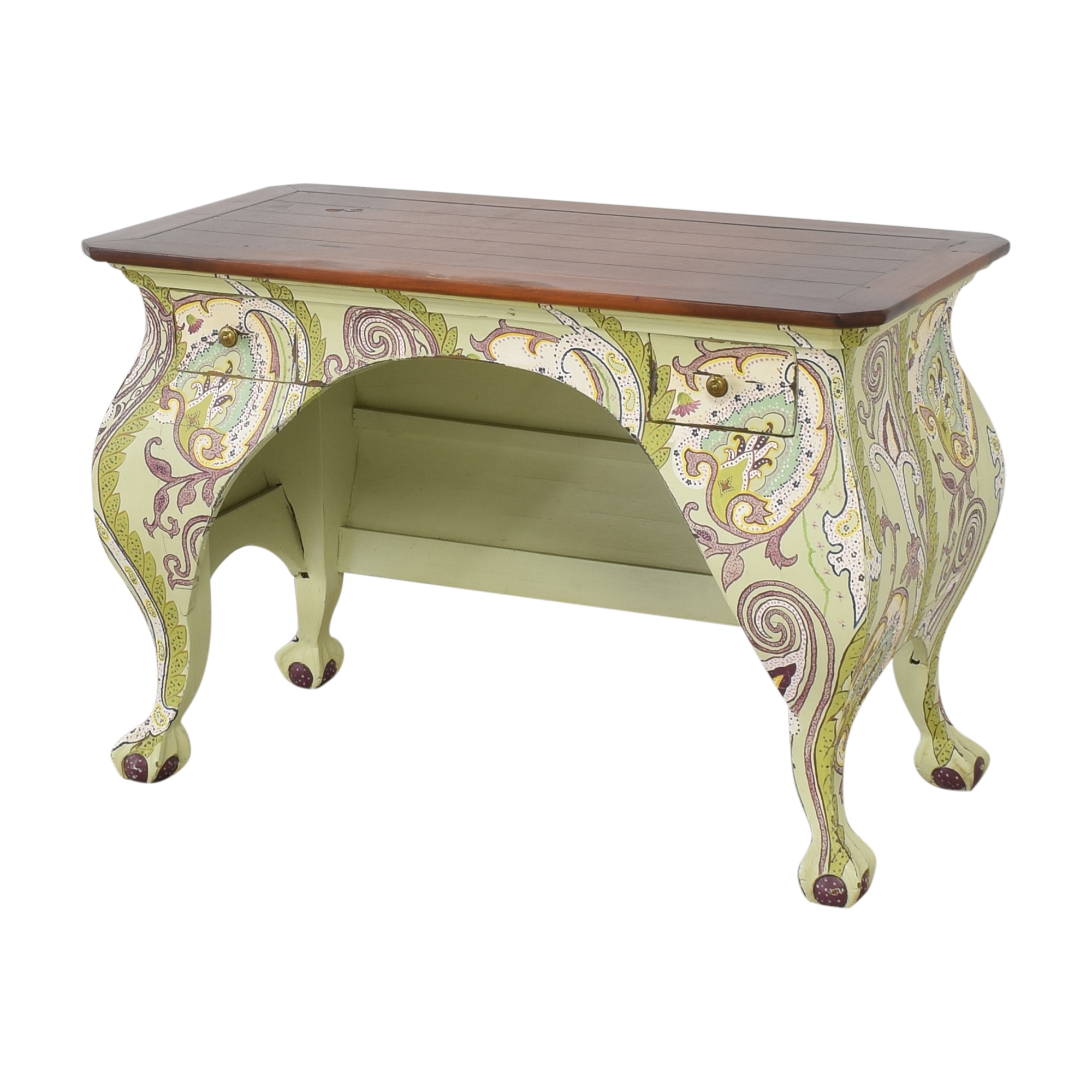 One Kings Lane One Kings Lane Two Drawer Paisley Accent Desk on sale
