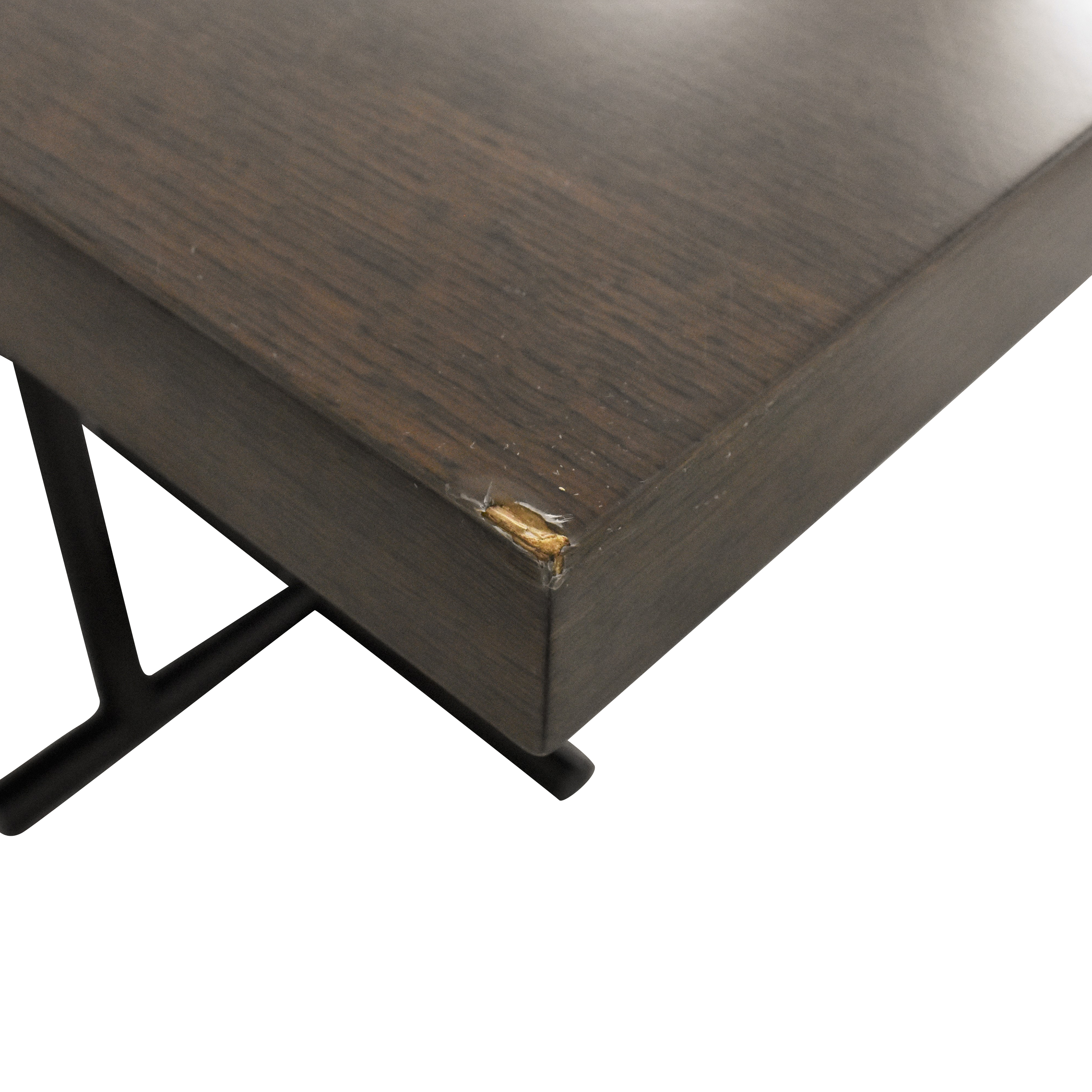 Eric Brand Eric Brand Industrial Style Utility Table brown and black