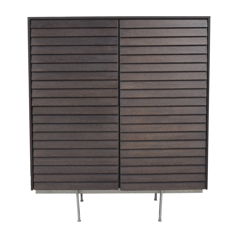 Design Within Reach Design Within Reach Sussex Four Door Cabinet dark brown