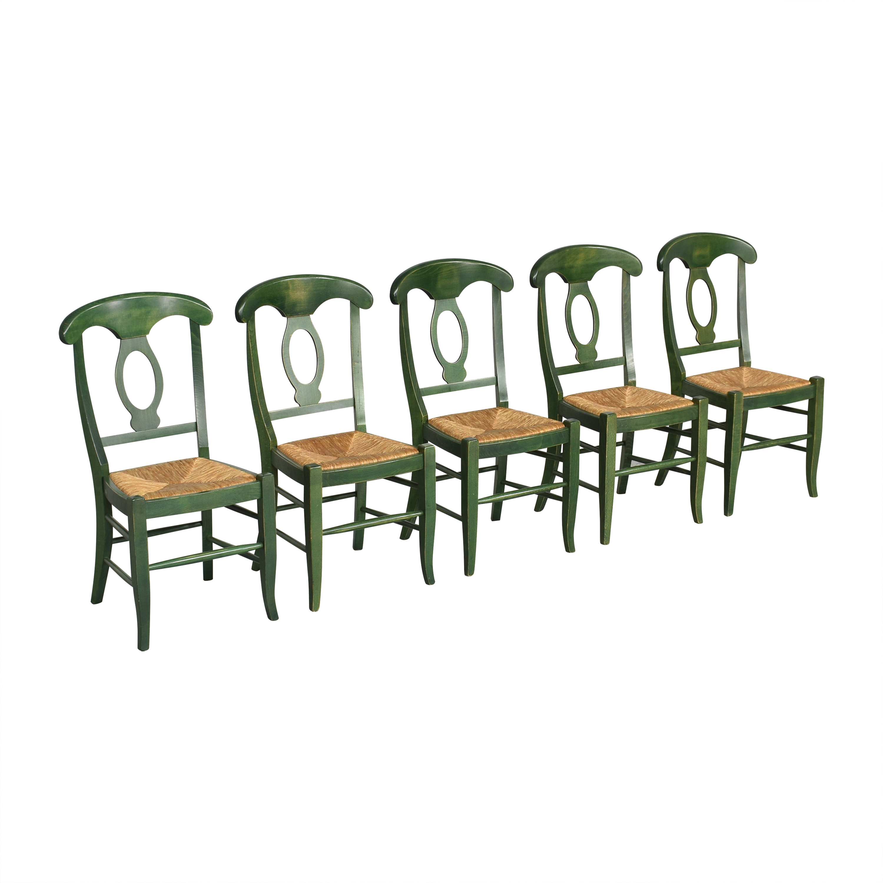 Pottery Barn Pottery Barn Napoleon Dining Side Chairs Green