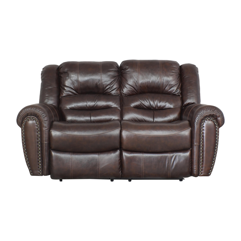 Man Wah Furniture Man Wah Nailhead Trim Reclining Loveseat second hand