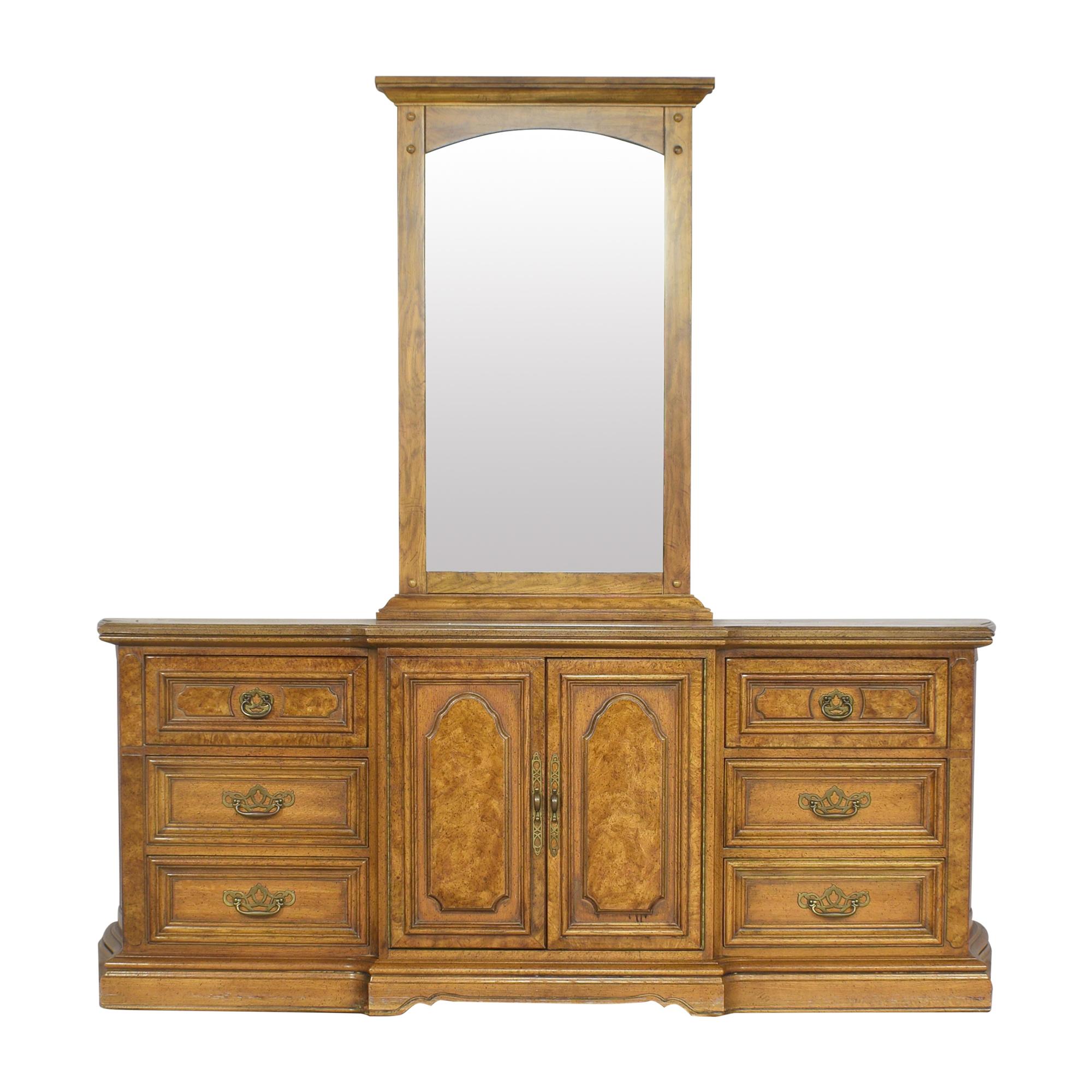 Unique Furniture Unique Furniture Triple Dresser with Mirror Storage