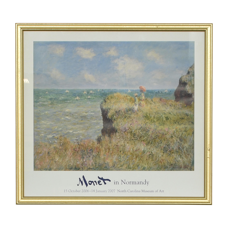 Monet The Cliff Walk at Pourville Framed Wall Art