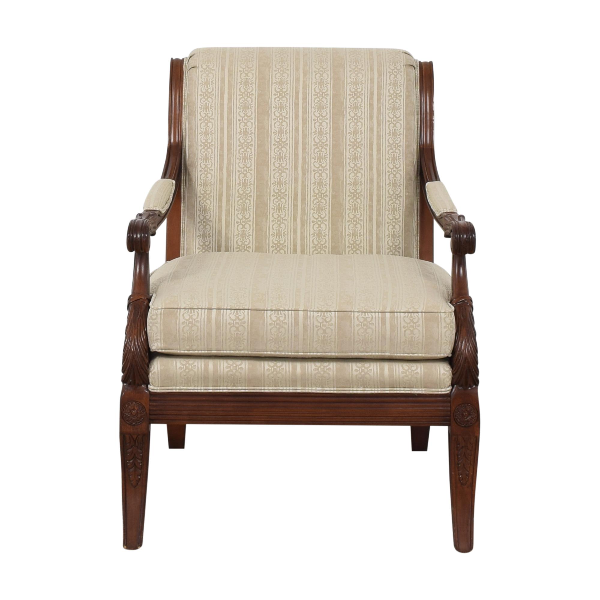 Henredon Furniture Henredon Scroll Back Accent Chair ct