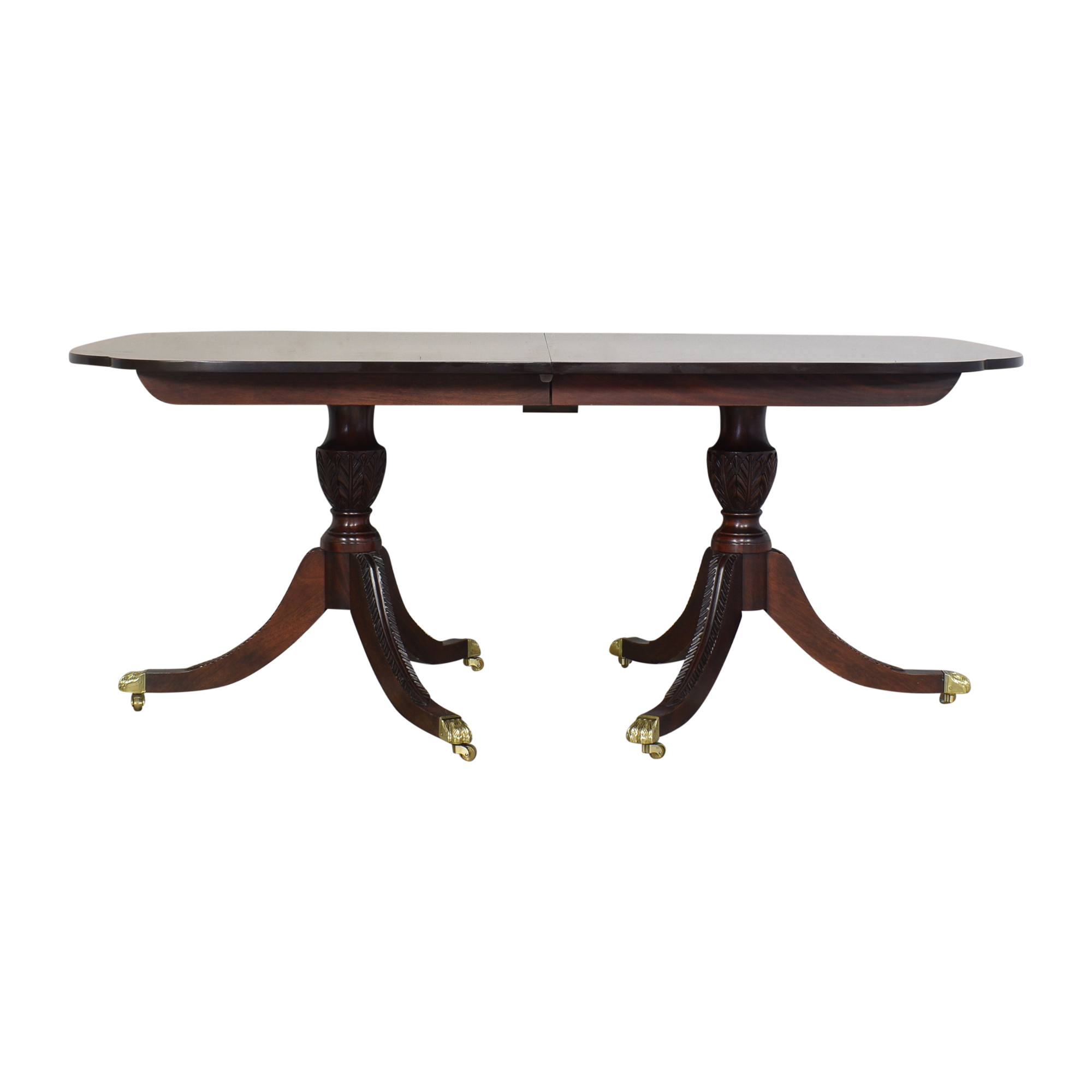 Stickley Furniture Stickley Furniture Double Pedestal Extendable Dining Table pa