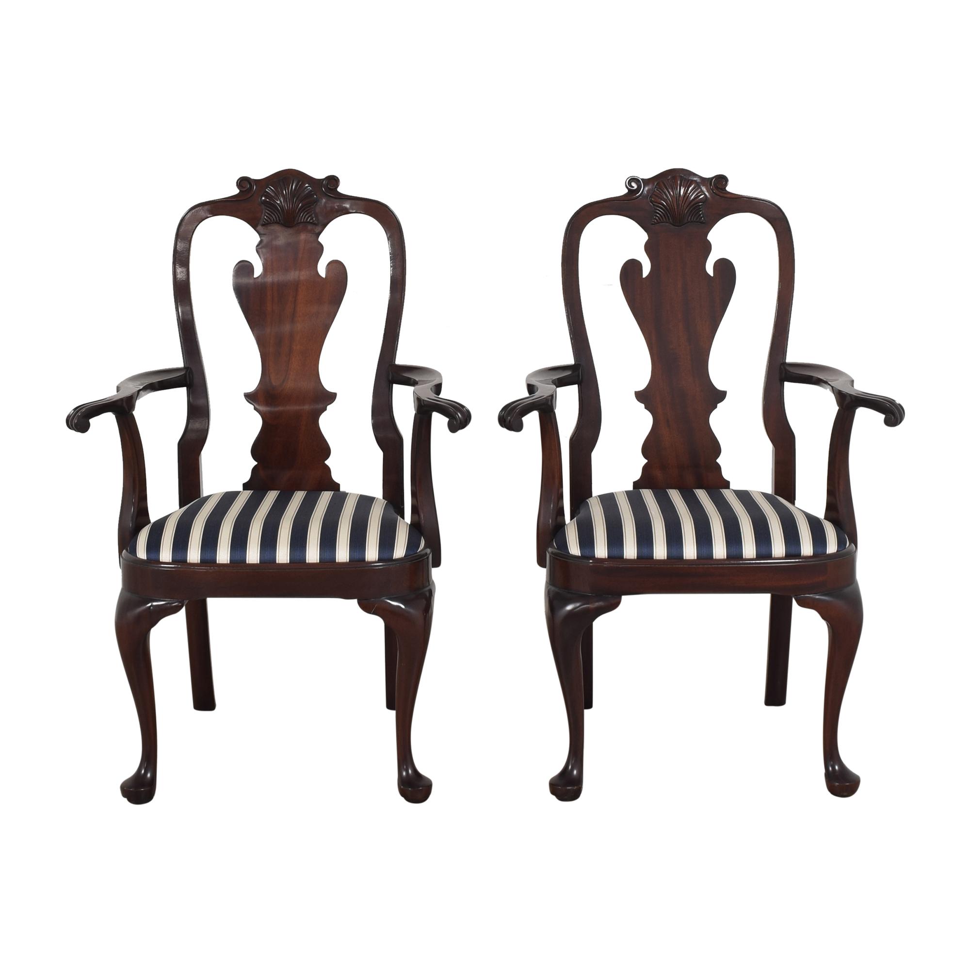 Stickley Furniture Queen Anne-Style Arm Chairs Stickley Furniture