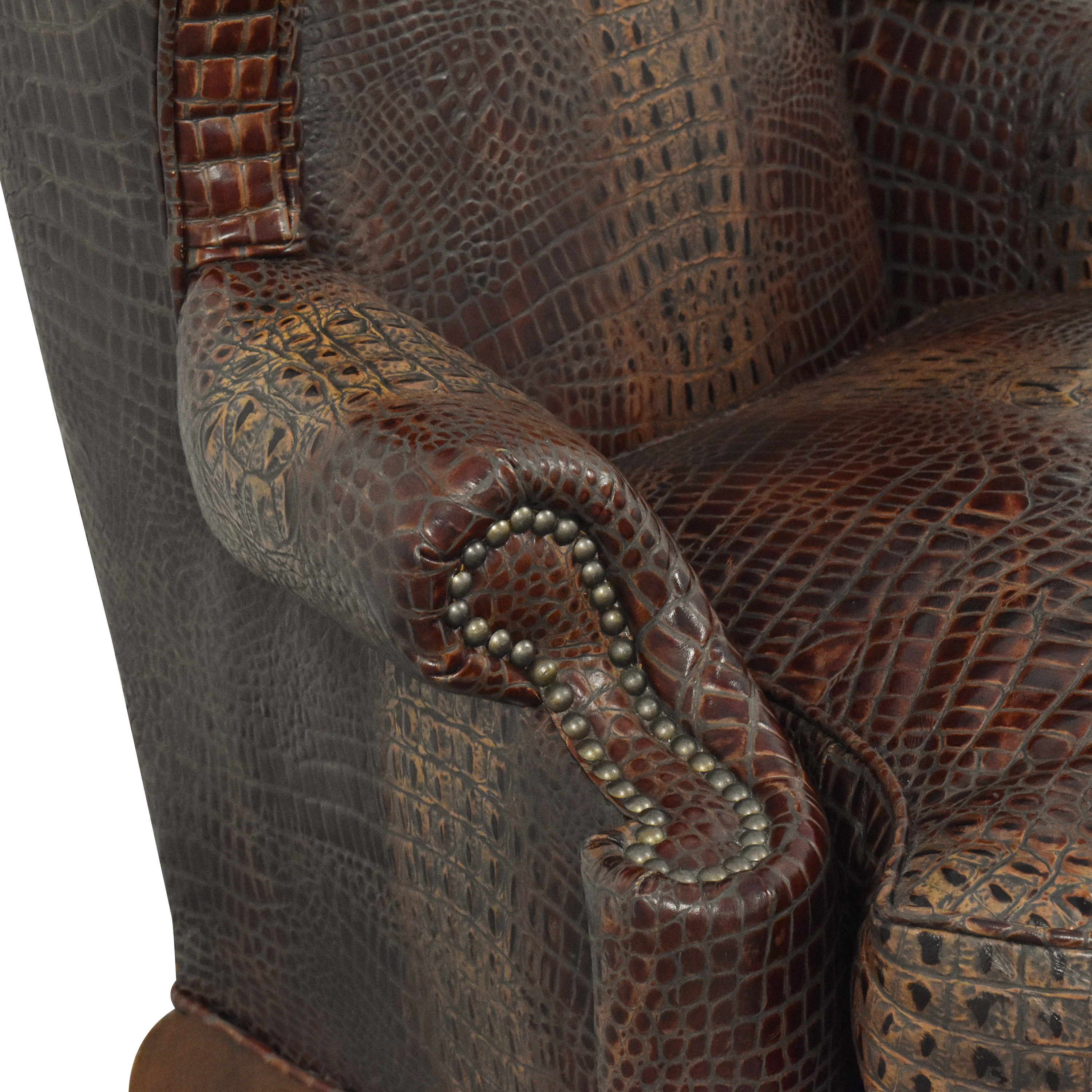 shop Old Hickory Tannery Wing Chair Old Hickory Tannery Chairs