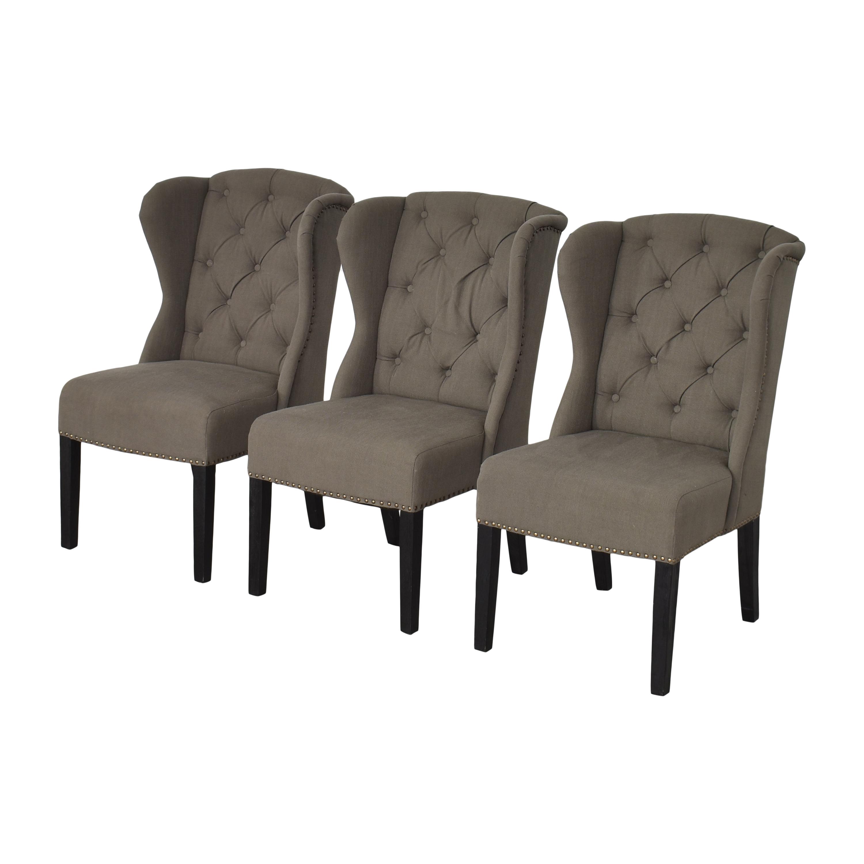 Arhaus Arhaus Greyson Tufted Upholstered Dining Side Chairs price