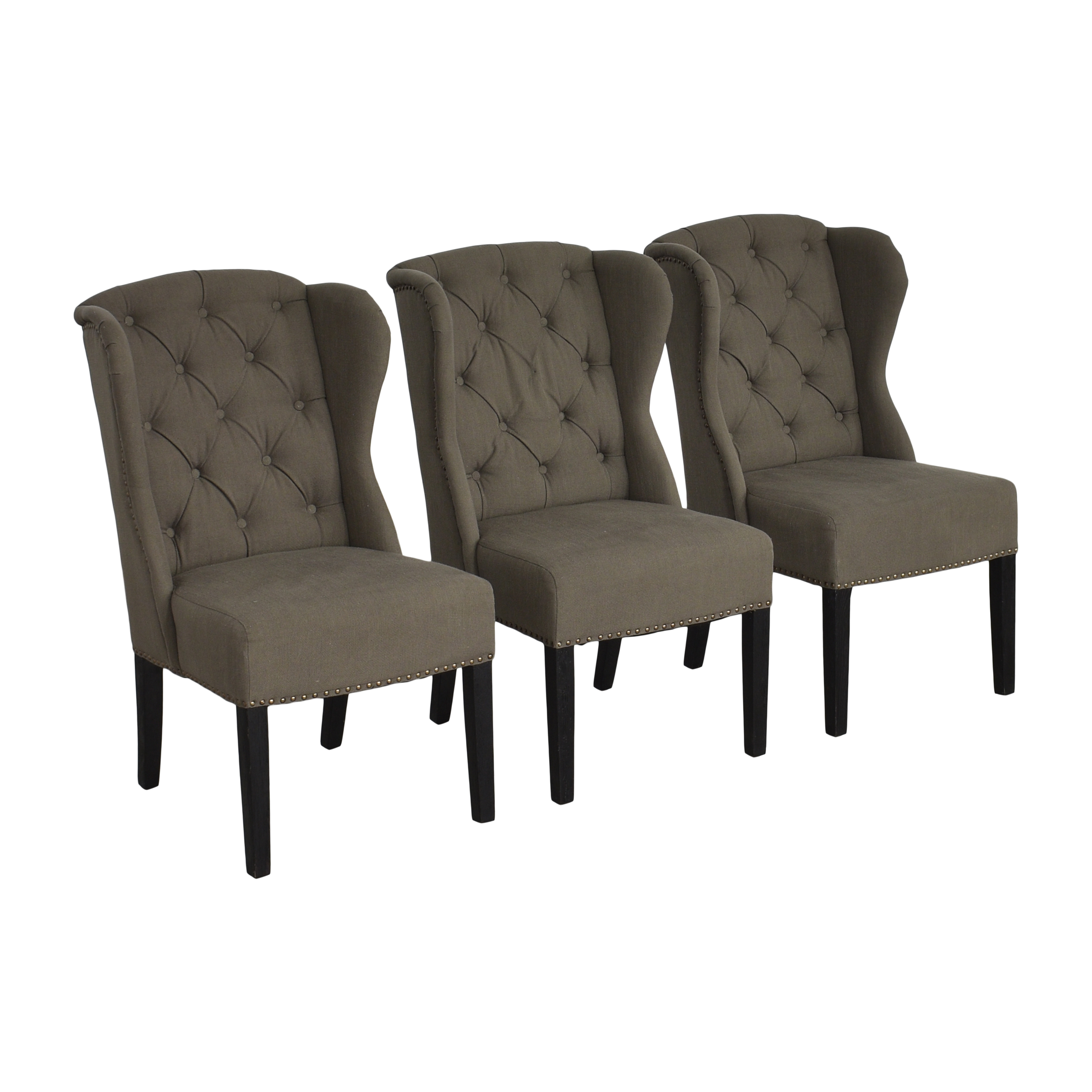 Arhaus Arhaus Greyson Tufted Upholstered Dining Side Chairs second hand