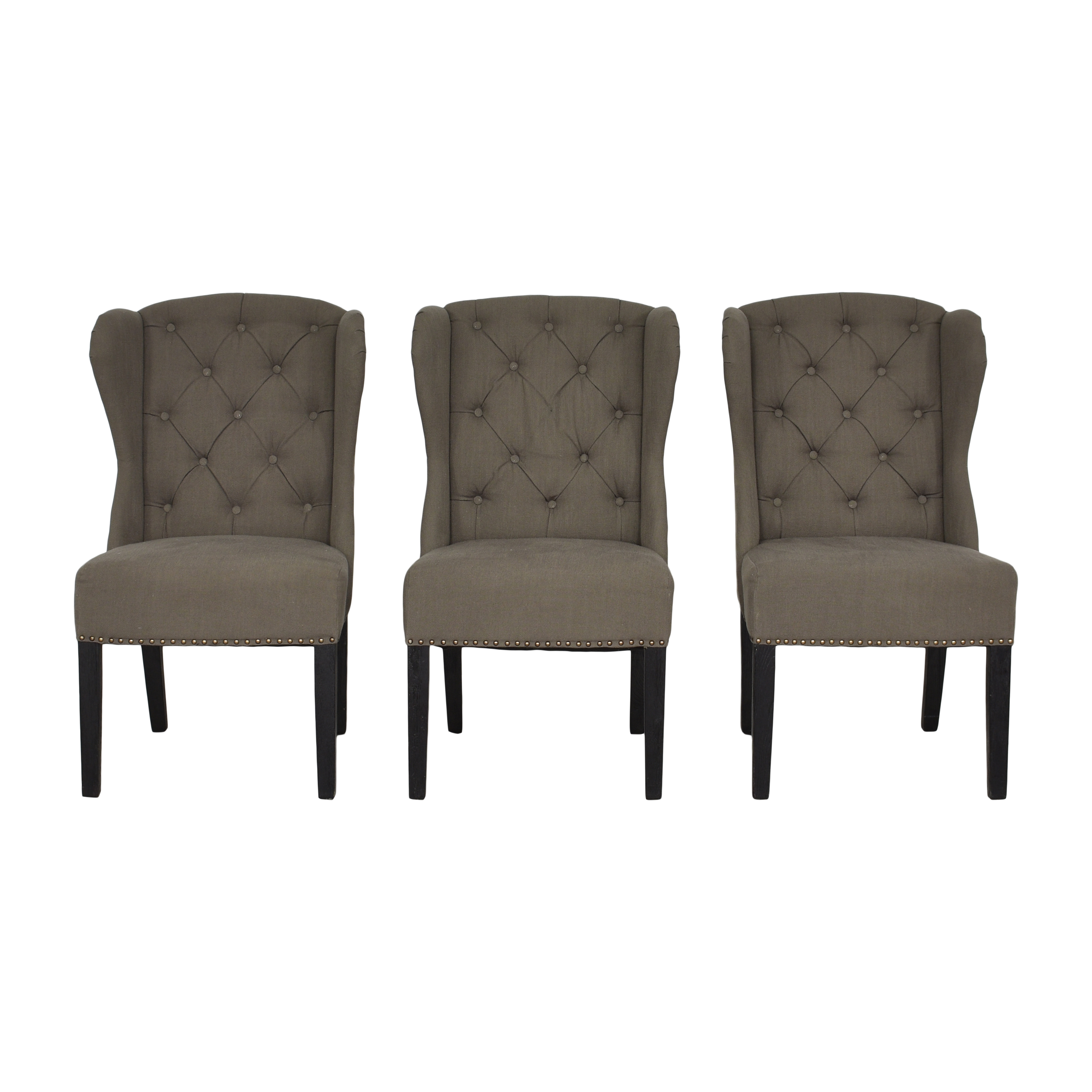 Arhaus Greyson Tufted Upholstered Dining Side Chairs sale