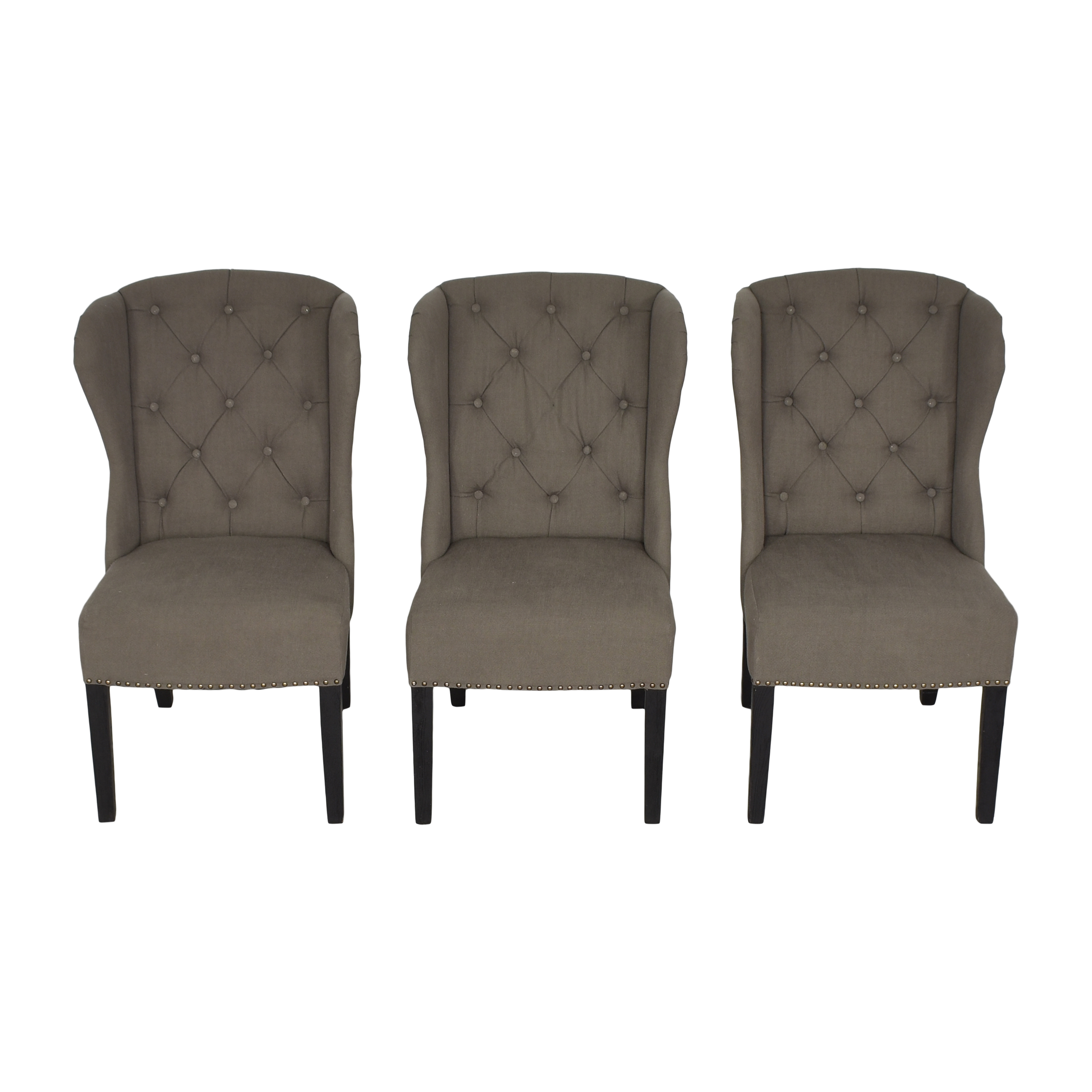 buy Arhaus Greyson Tufted Upholstered Dining Side Chairs Arhaus Dining Chairs