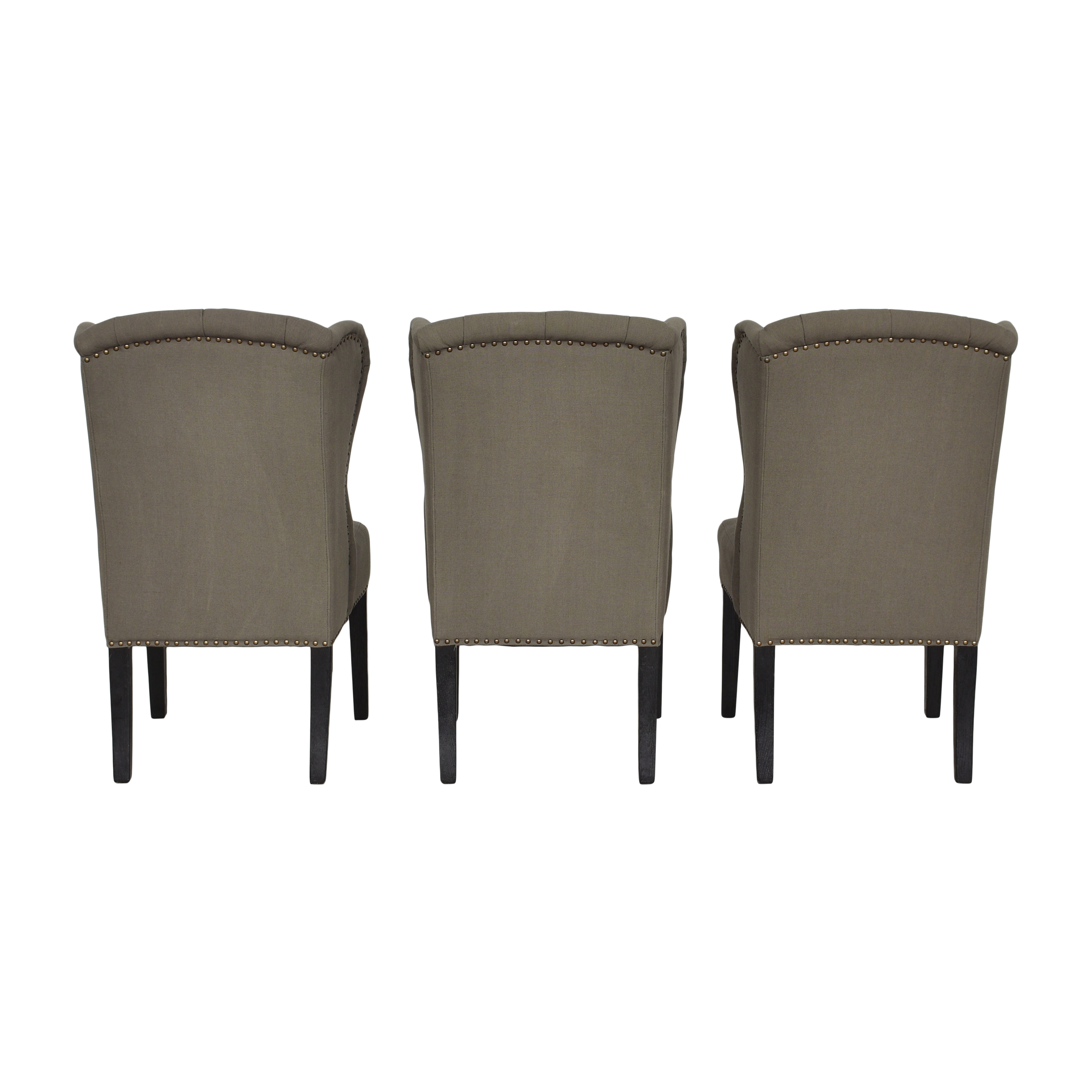 shop Arhaus Greyson Tufted Upholstered Dining Side Chairs Arhaus Chairs