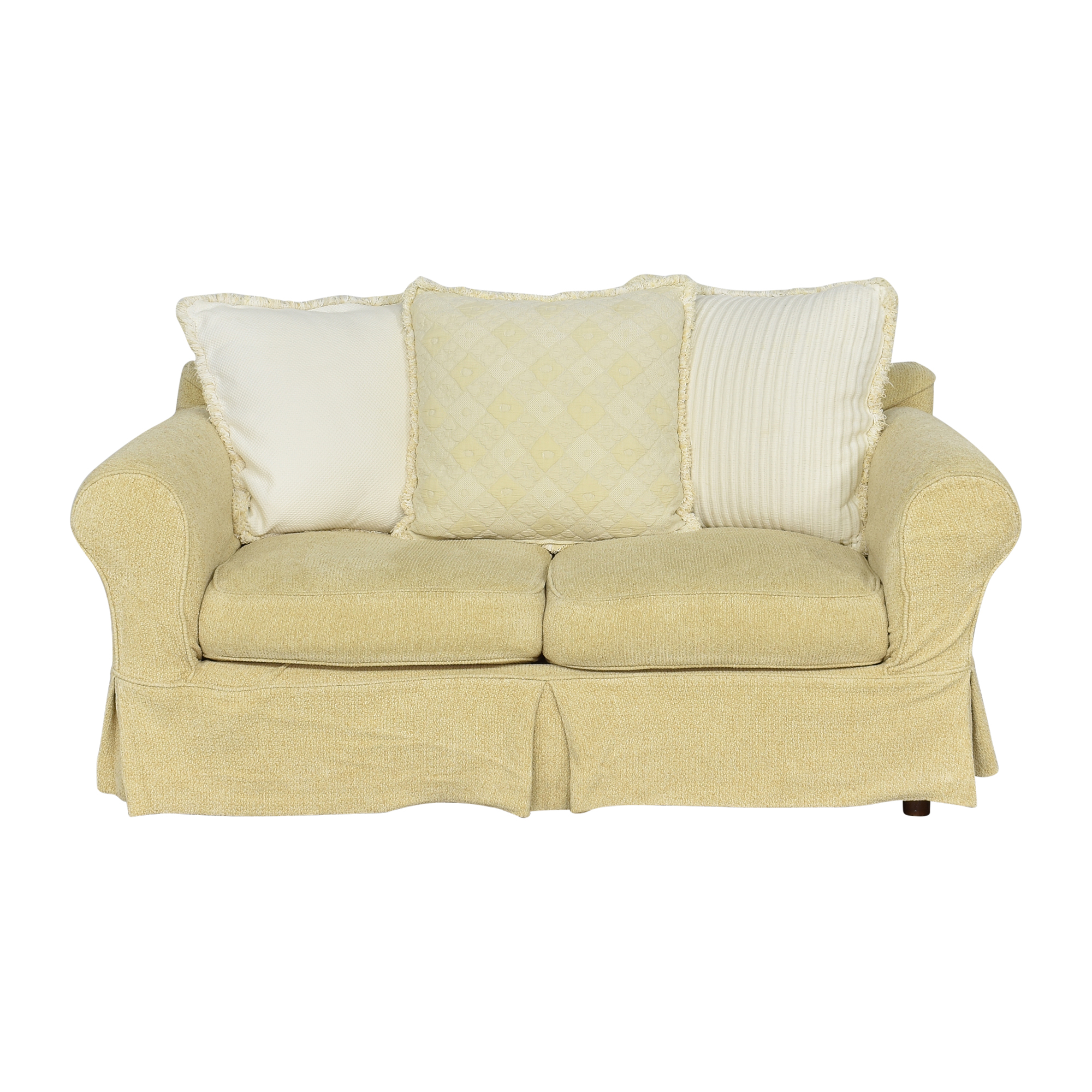 Cisco Brothers Cisco Brothers Roll Arm Skirted Sofa nyc