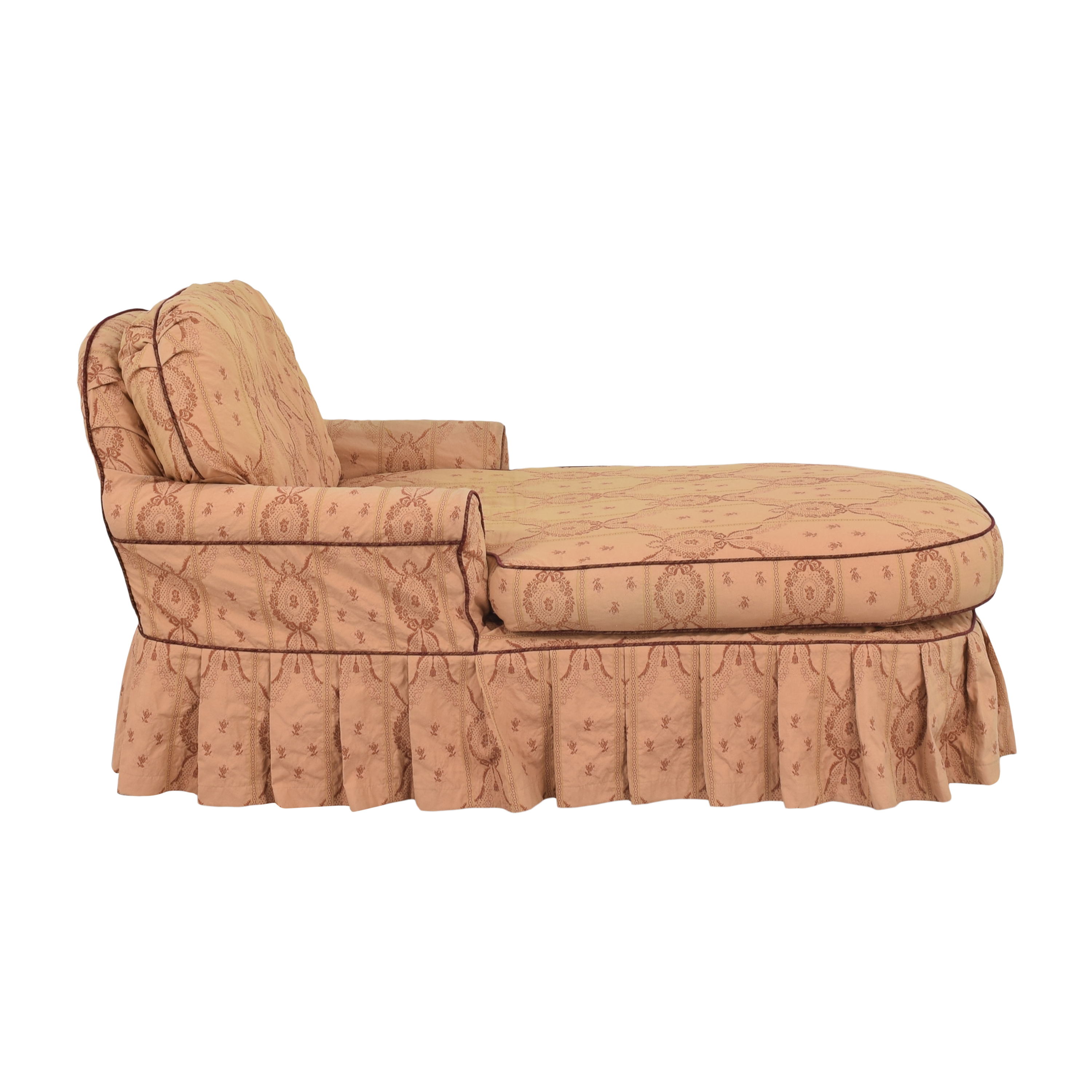 JM Paquet JM Paquet Skirted Chaise pink and red