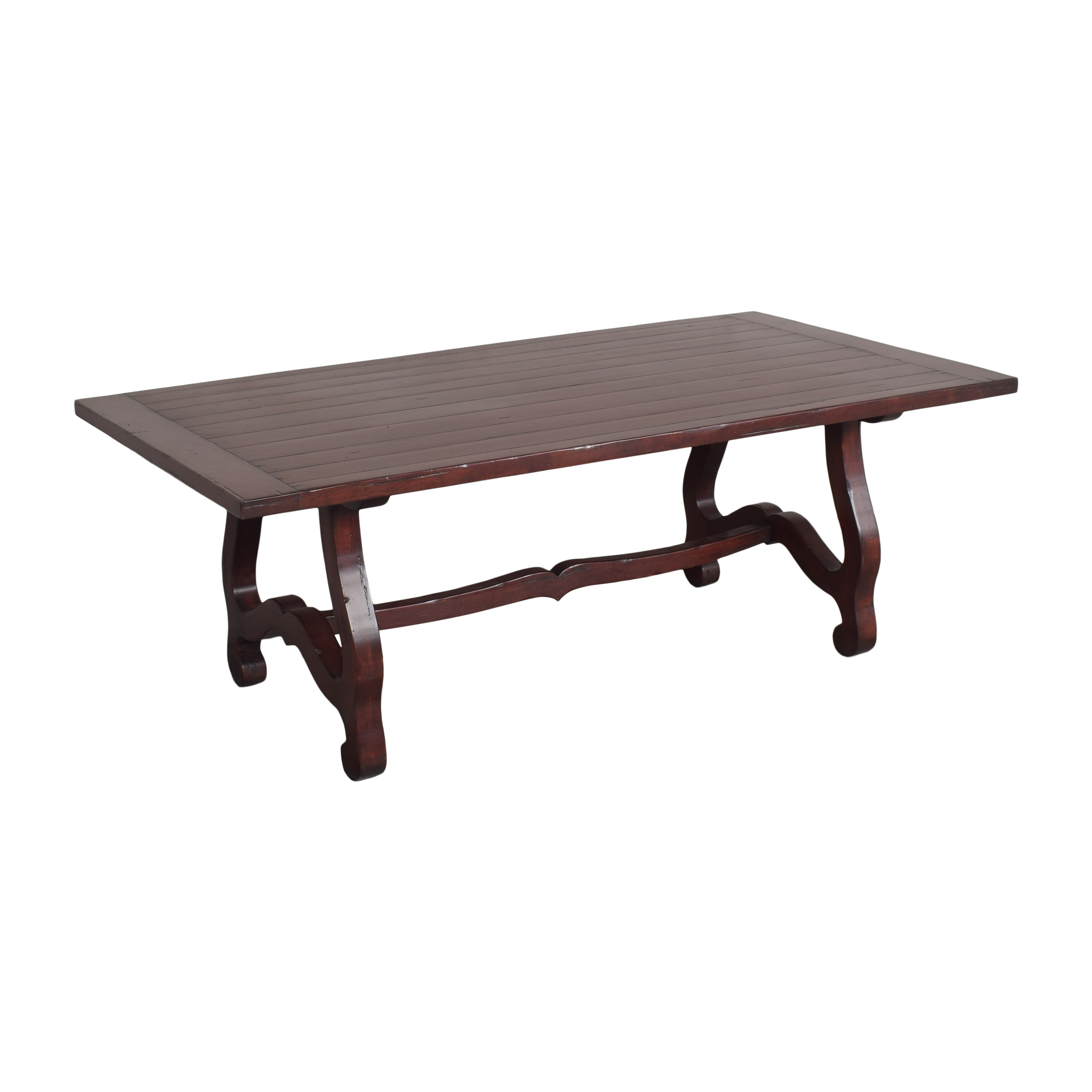Guy Chaddock & Co. Guy Chaddock & Co Country English Trestle Dining Table used