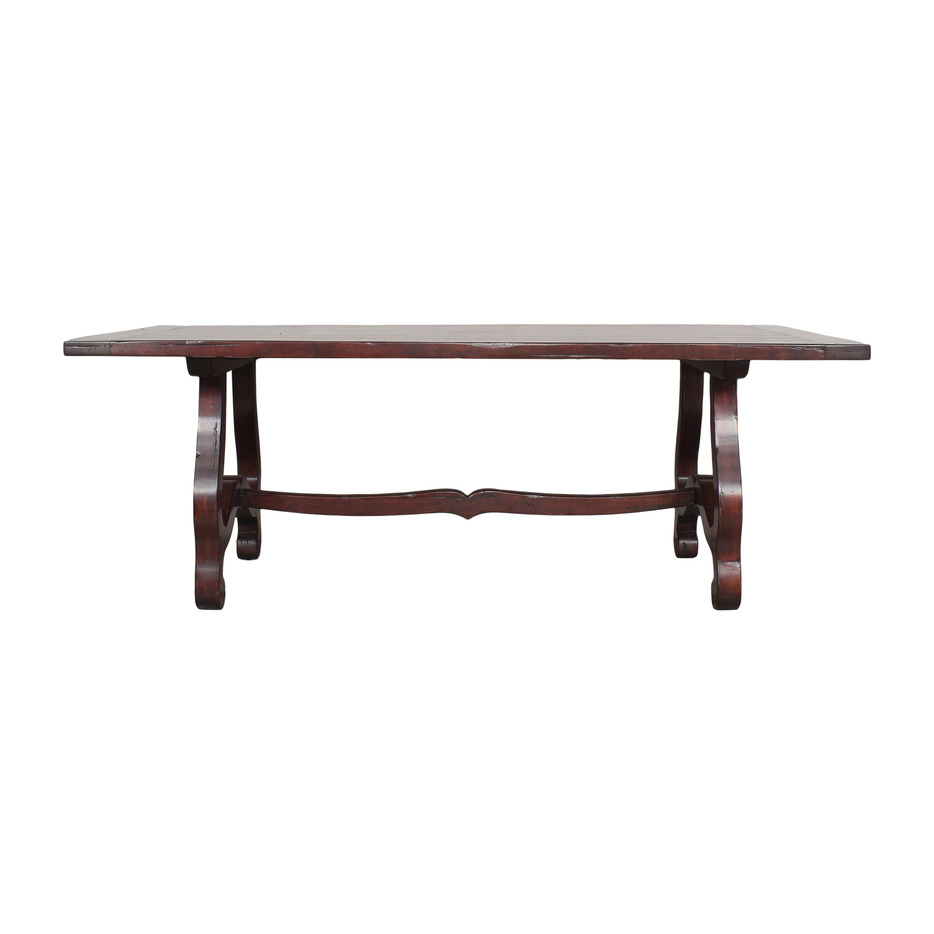 buy Guy Chaddock & Co Country English Trestle Dining Table Guy Chaddock & Co. Dinner Tables