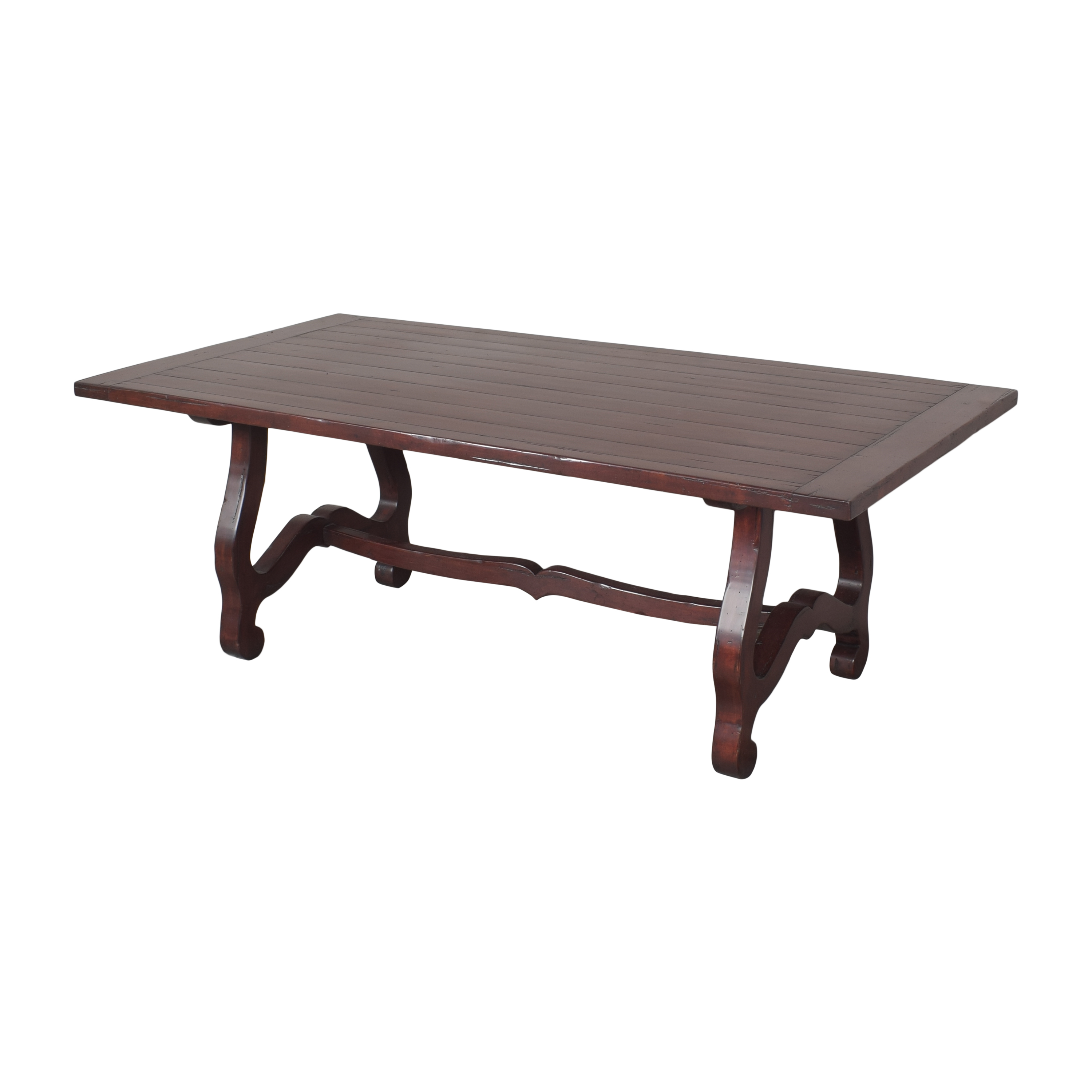 Guy Chaddock & Co. Guy Chaddock & Co Country English Trestle Dining Table brown