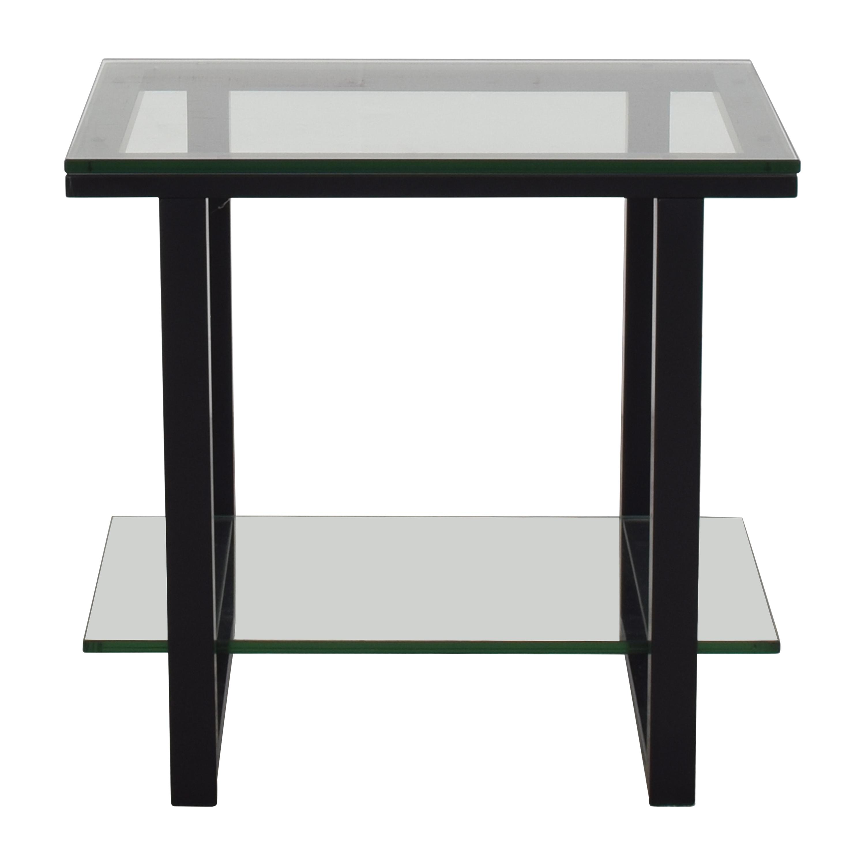 Crate & Barrel Crate & Barrel Two-Shelf Side Table