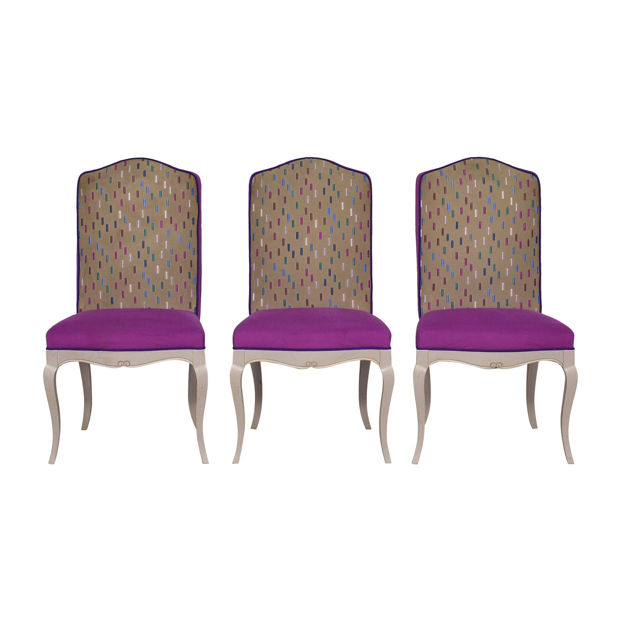 Roche Bobois Upholstered Dining Chairs Roche Bobois