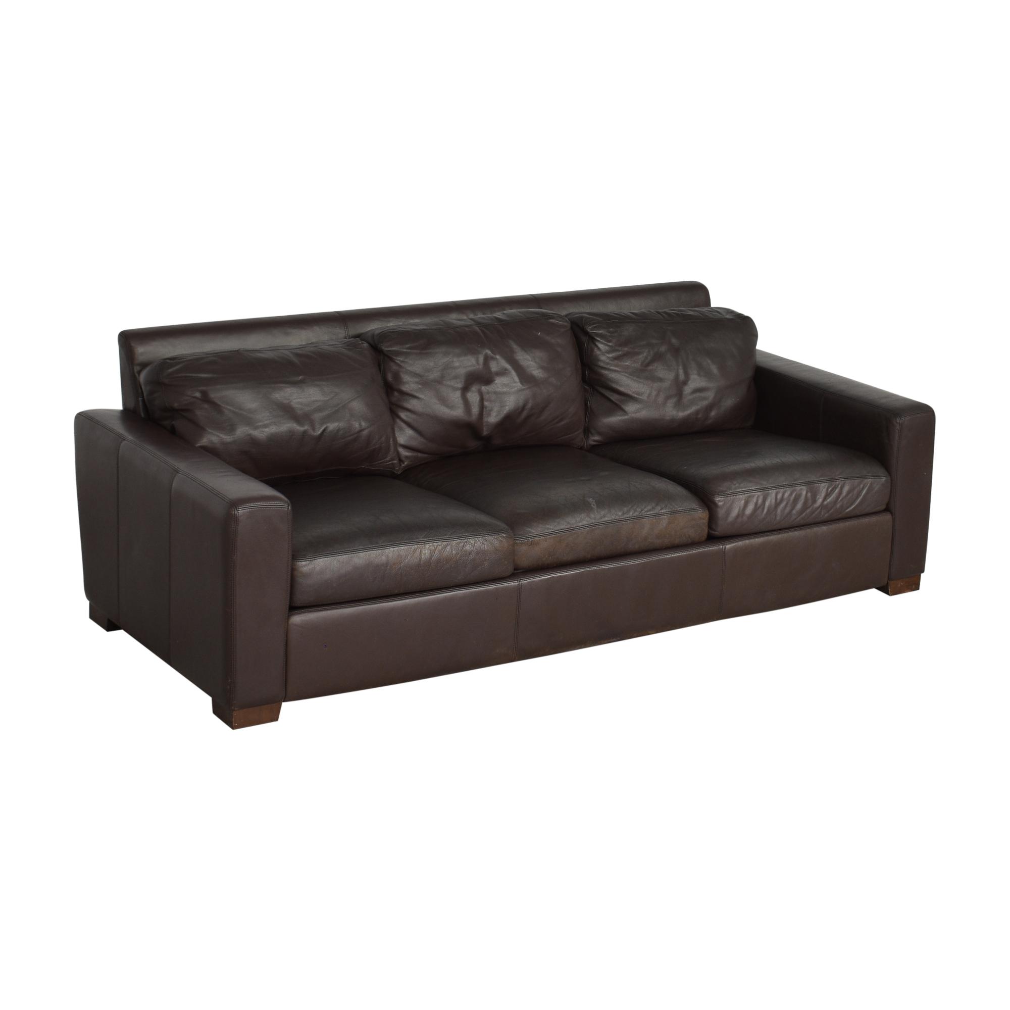 shop Design Within Reach Portola Three Cushion Sofa Design Within Reach Sofas