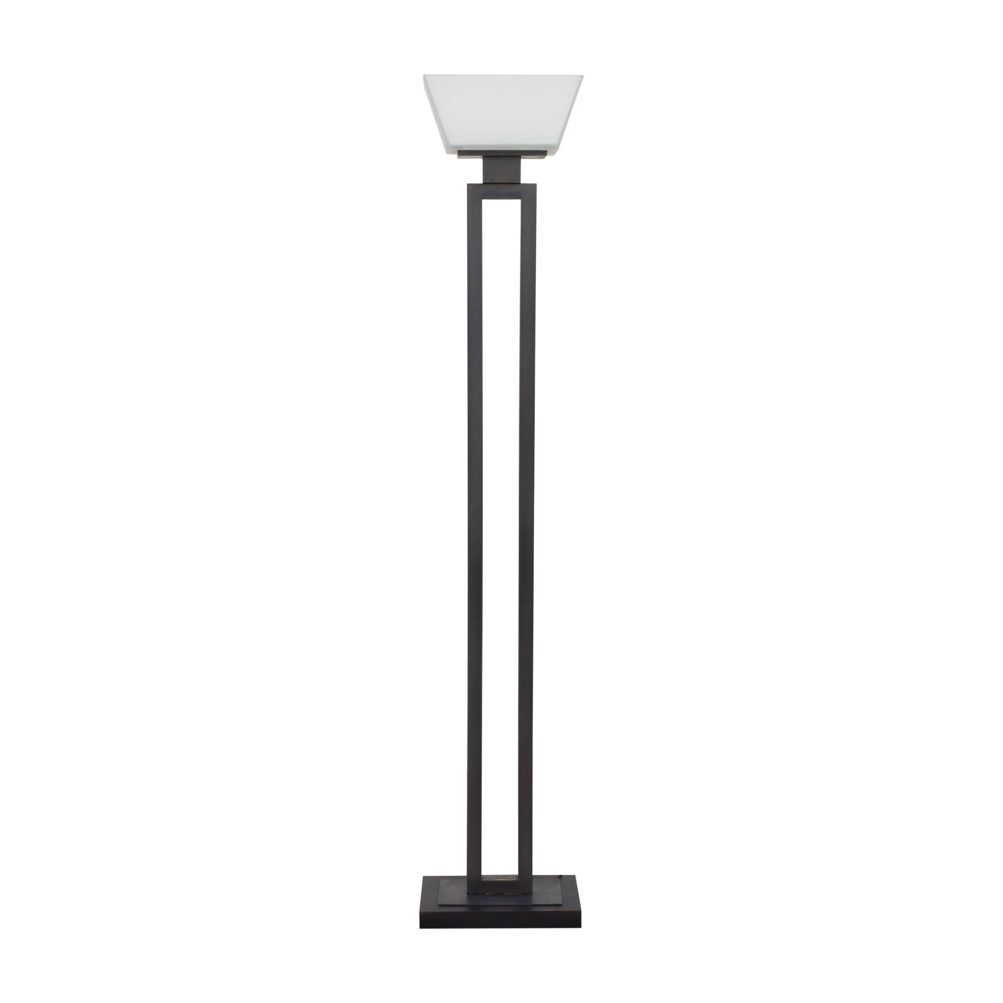 buy Crate & Barrel Jerry Torchiere Floor Lamp Crate & Barrel