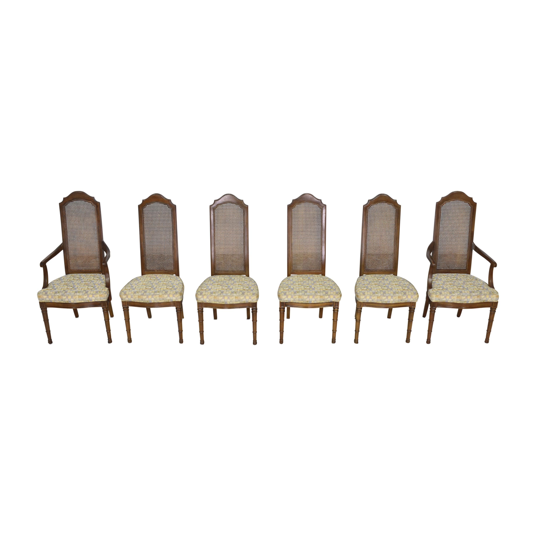Henredon Furniture Henredon Cane Back Dining Chairs brown