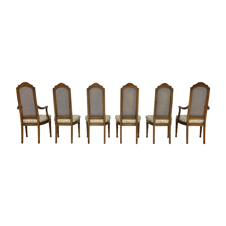 Henredon Furniture Henredon Cane Back Dining Chairs Chairs