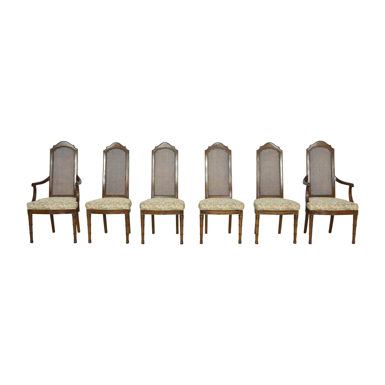 shop Henredon Cane Back Dining Chairs Henredon Furniture Chairs