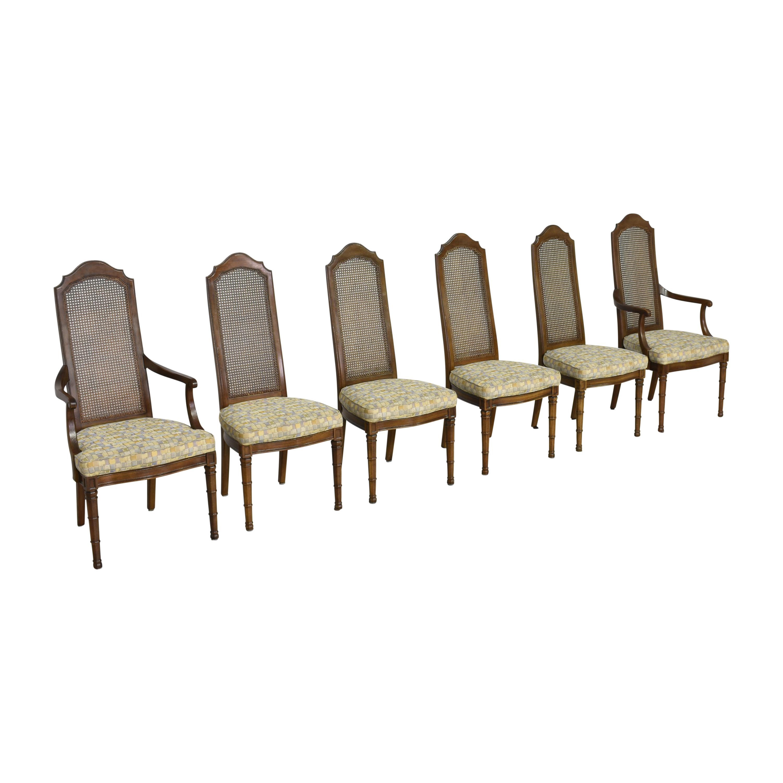 Henredon Furniture Henredon Cane Back Dining Chairs second hand