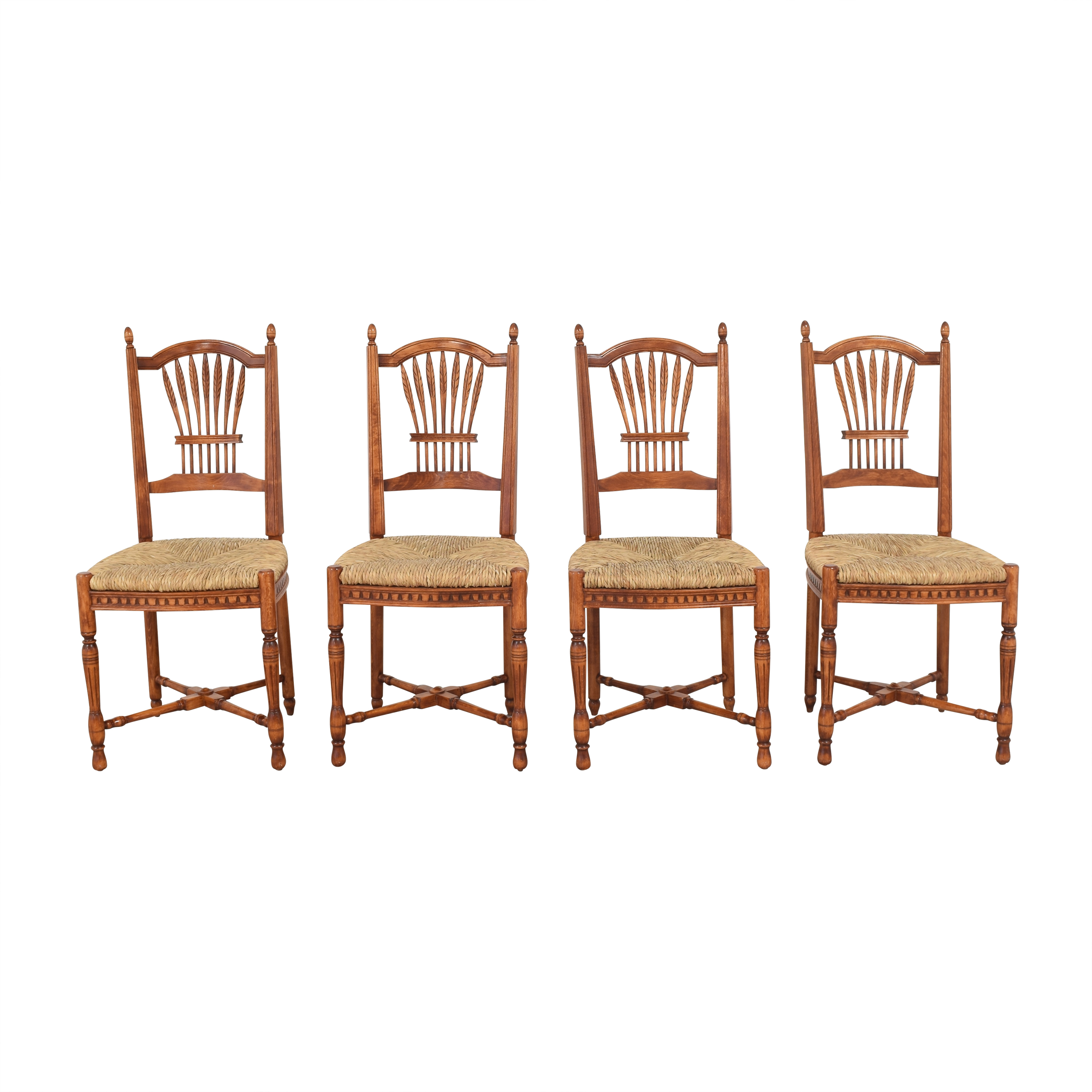Grange Grange French Country Wheat Back Dining Side Chairs Dining Chairs