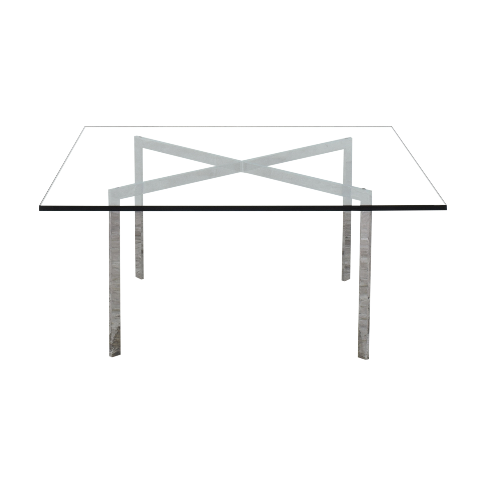 Room & Board Room & Board Meridian Cocktail Table silver