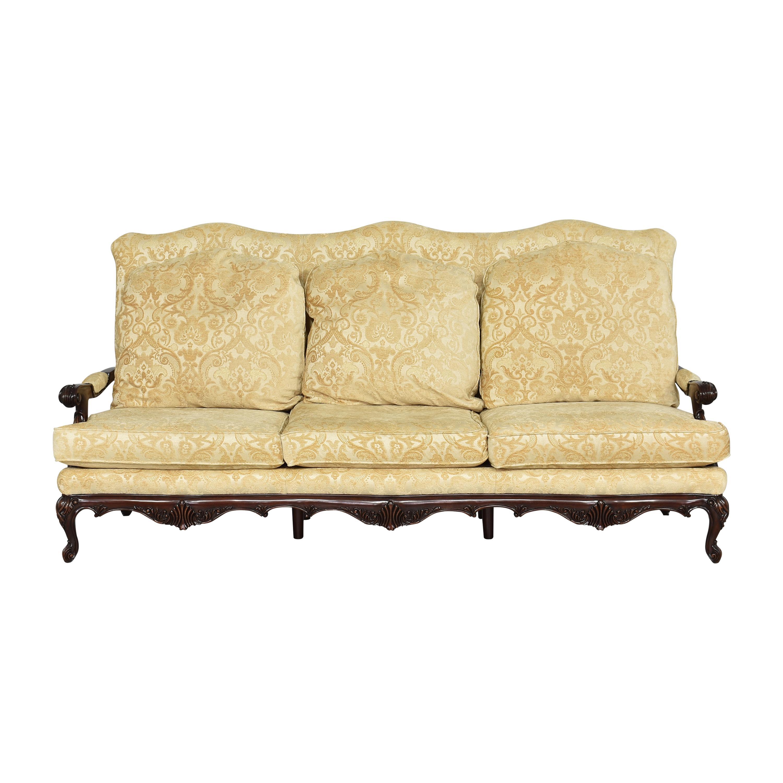 Three Cushion Carved Sofa pa