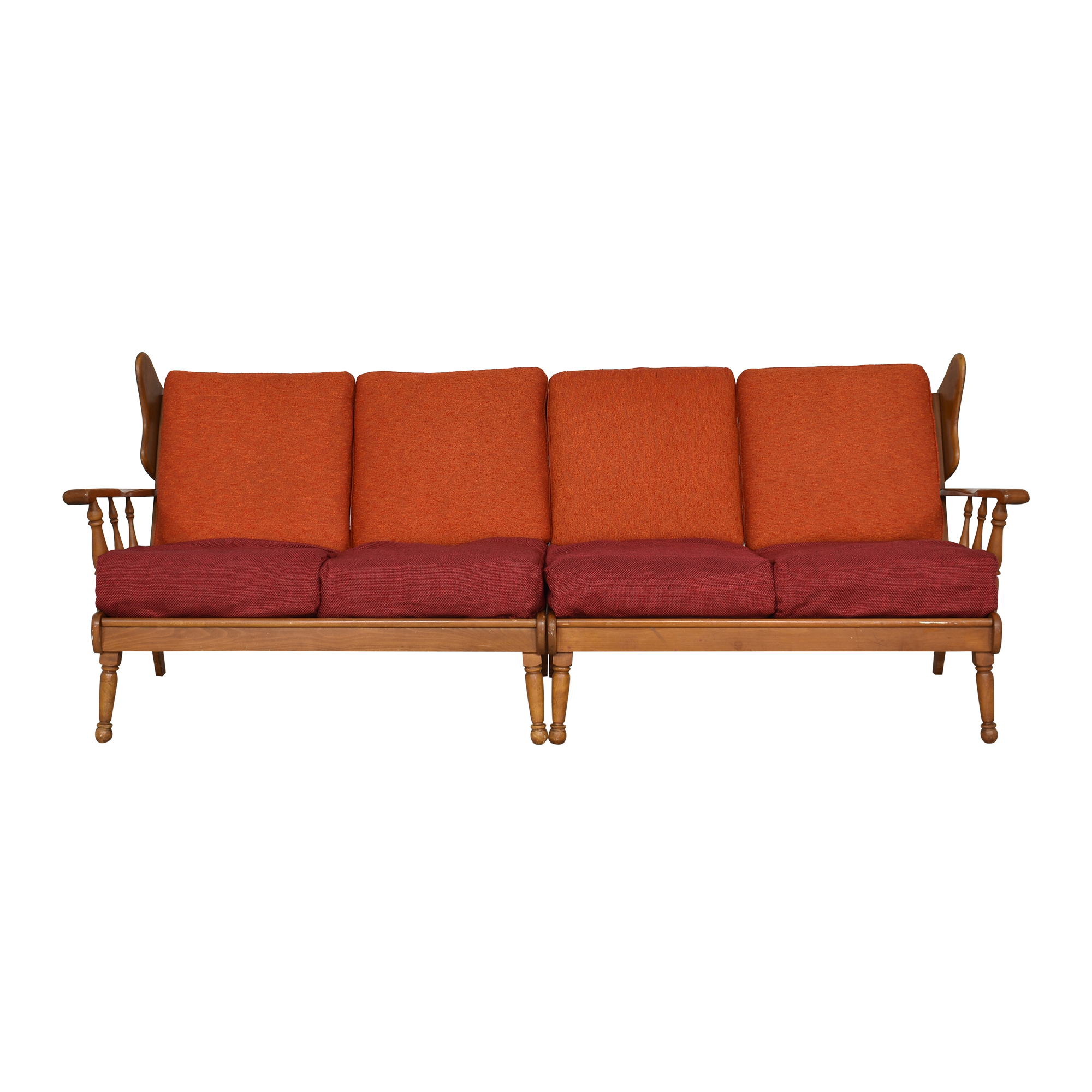Ethan Allen Vintage-Style Four Cushion Sofa / Classic Sofas