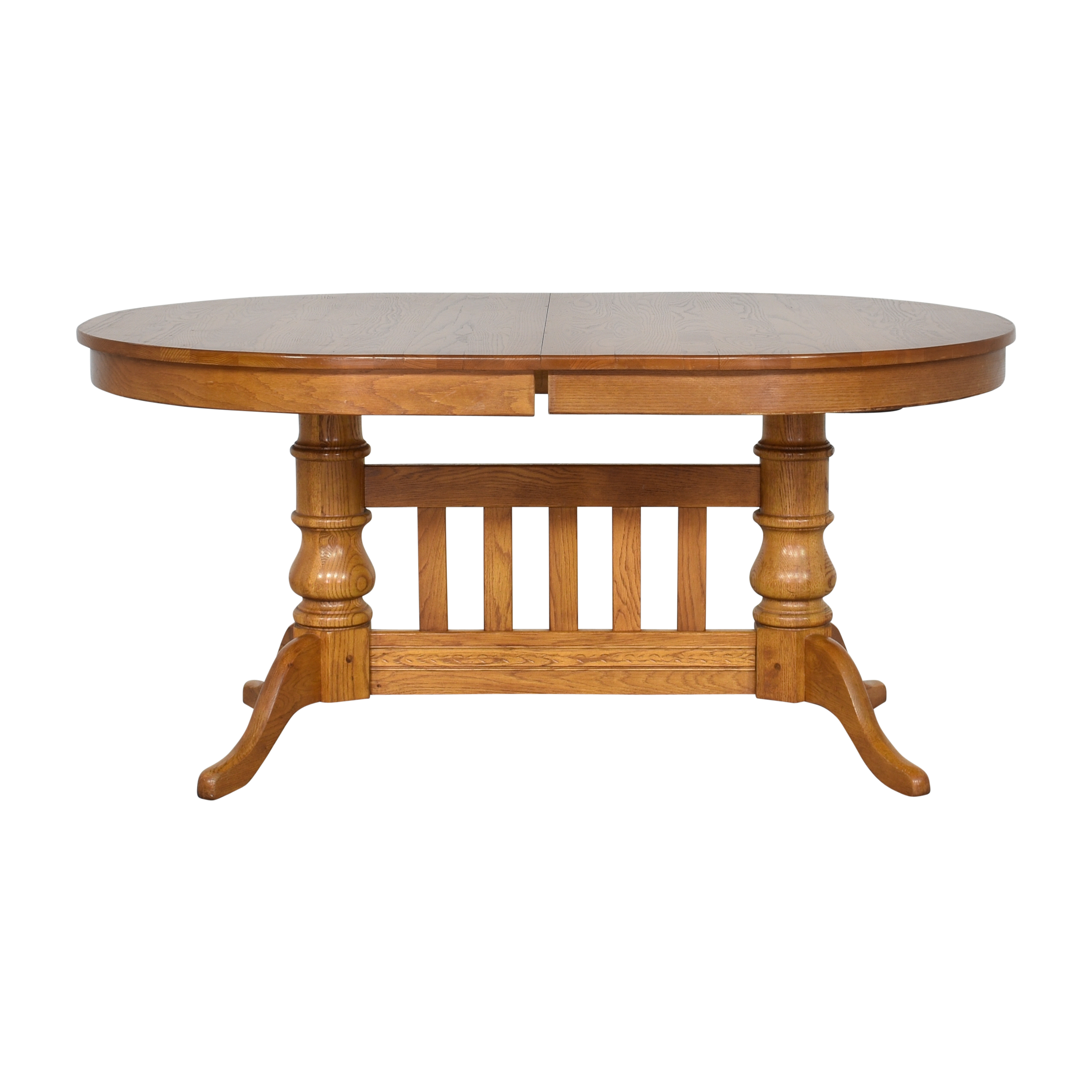 Oval Extendable Dining Table used
