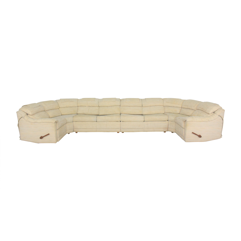 buy La-Z-Boy Custom Sectional Sleeper Sofa with Recliners La-Z-Boy Sofas