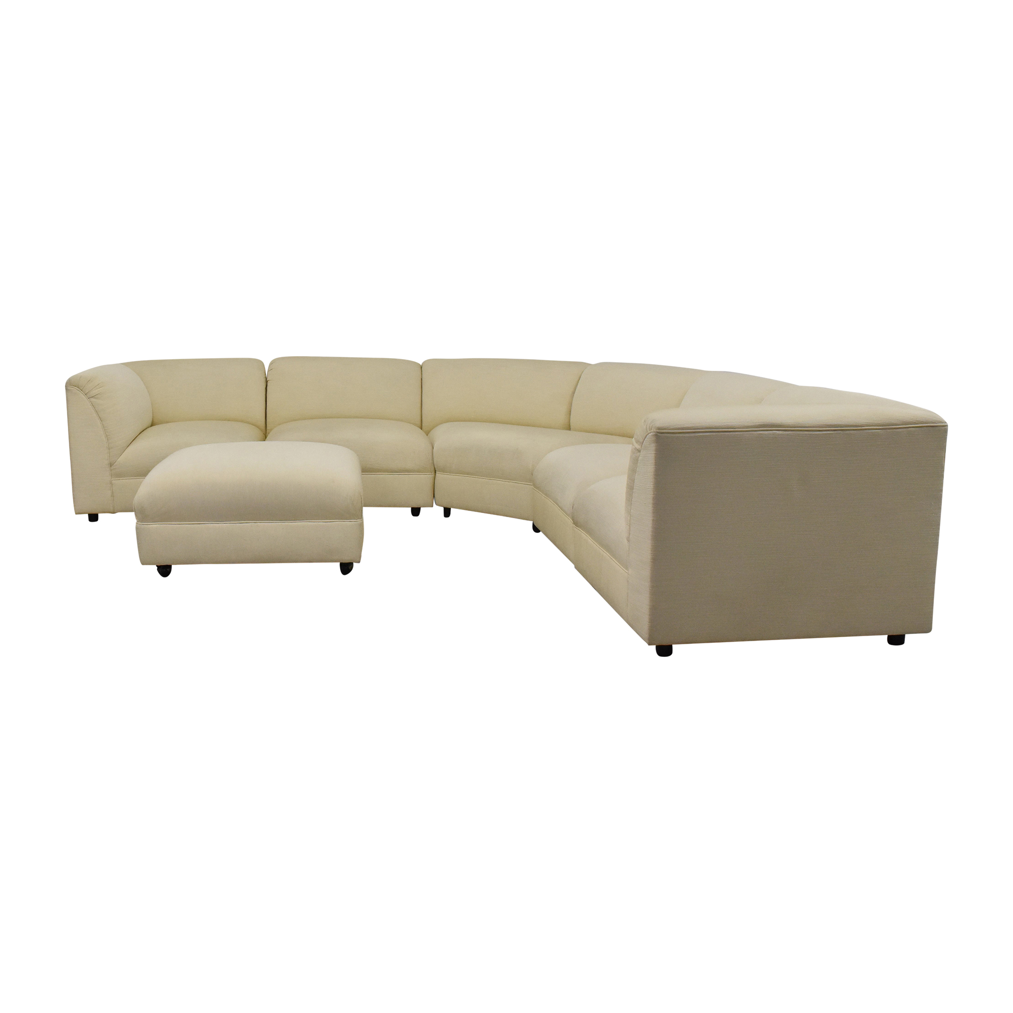 buy Maurice Villency Five Piece Sectional Sofa with Ottoman Maurice Villency Sofas