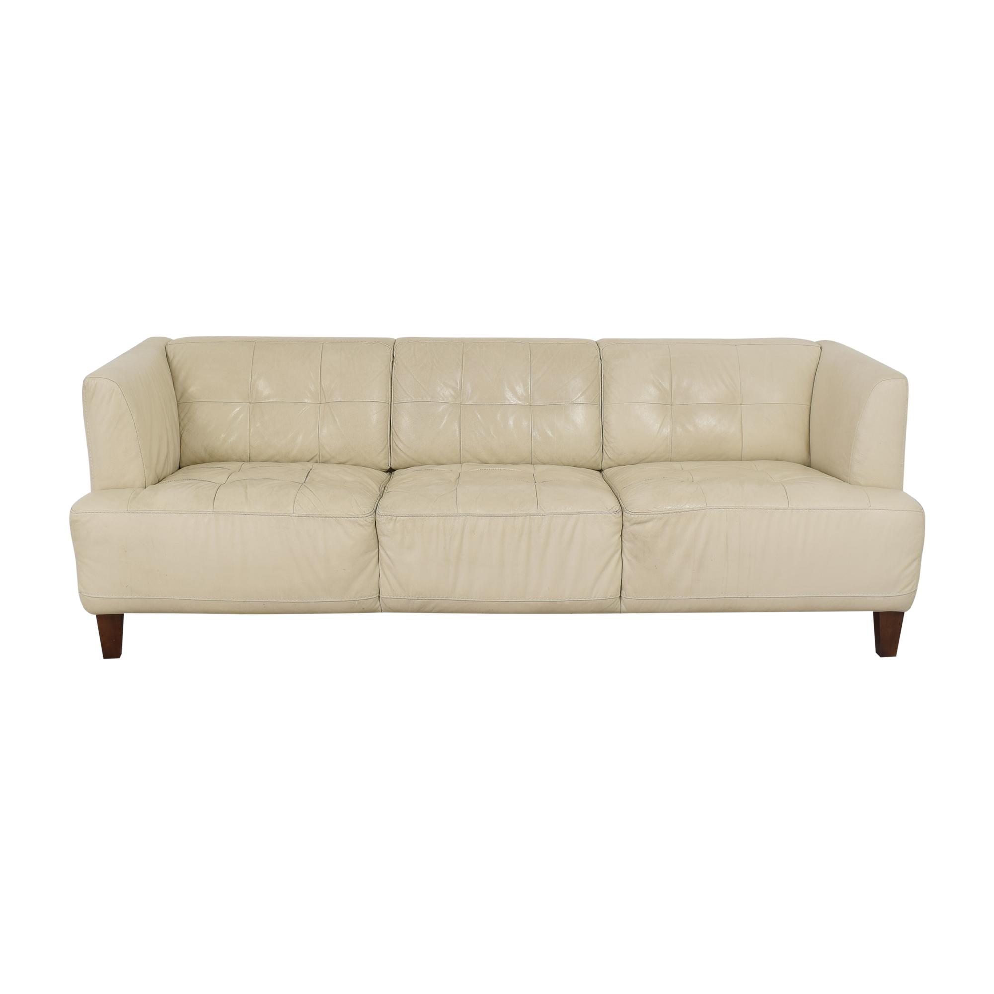 shop Macy's Macy's Tufted Three Cushion Sofa online