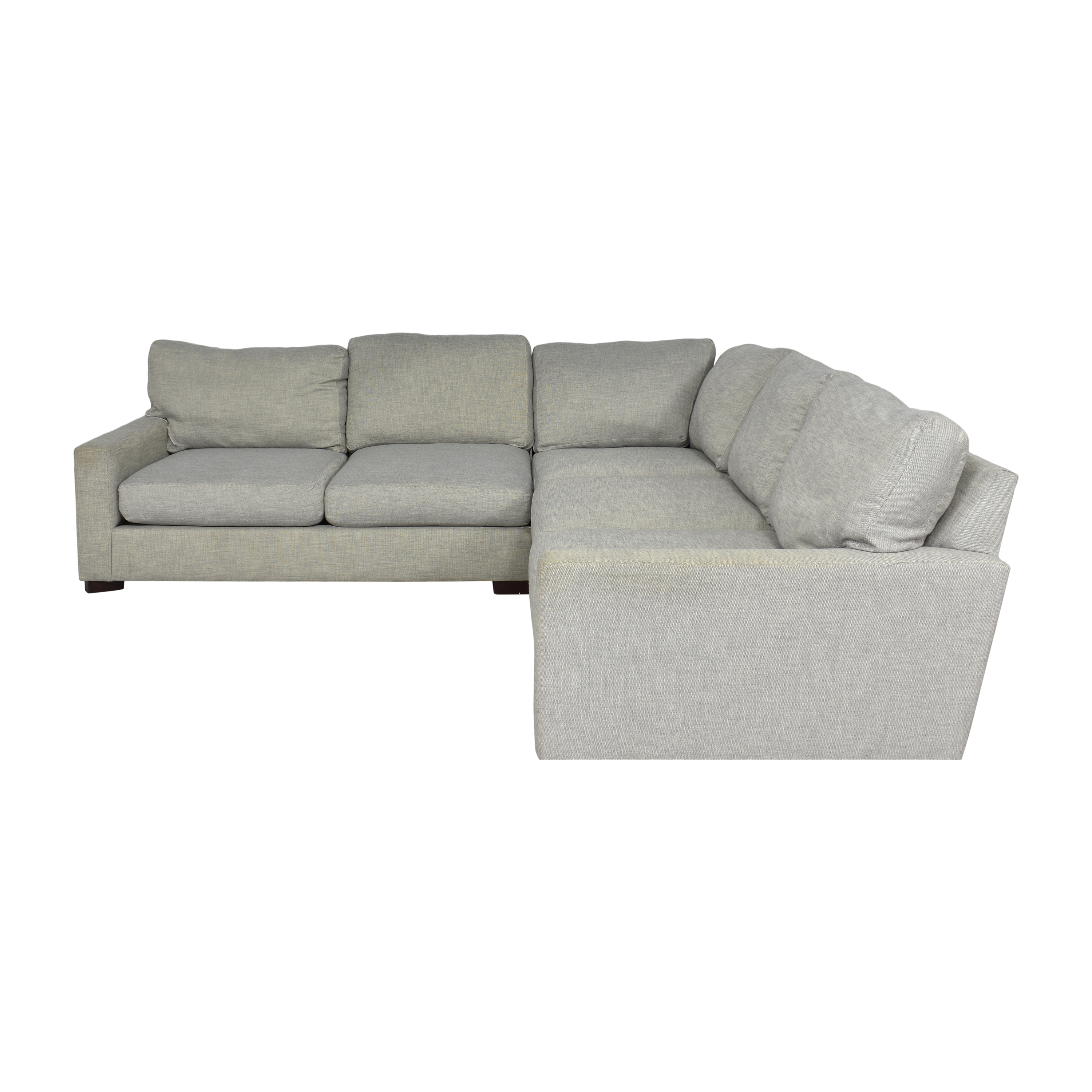Pottery Barn Pottery Barn Turner Square Arm Upholstered Three-Piece L-Sectional pa