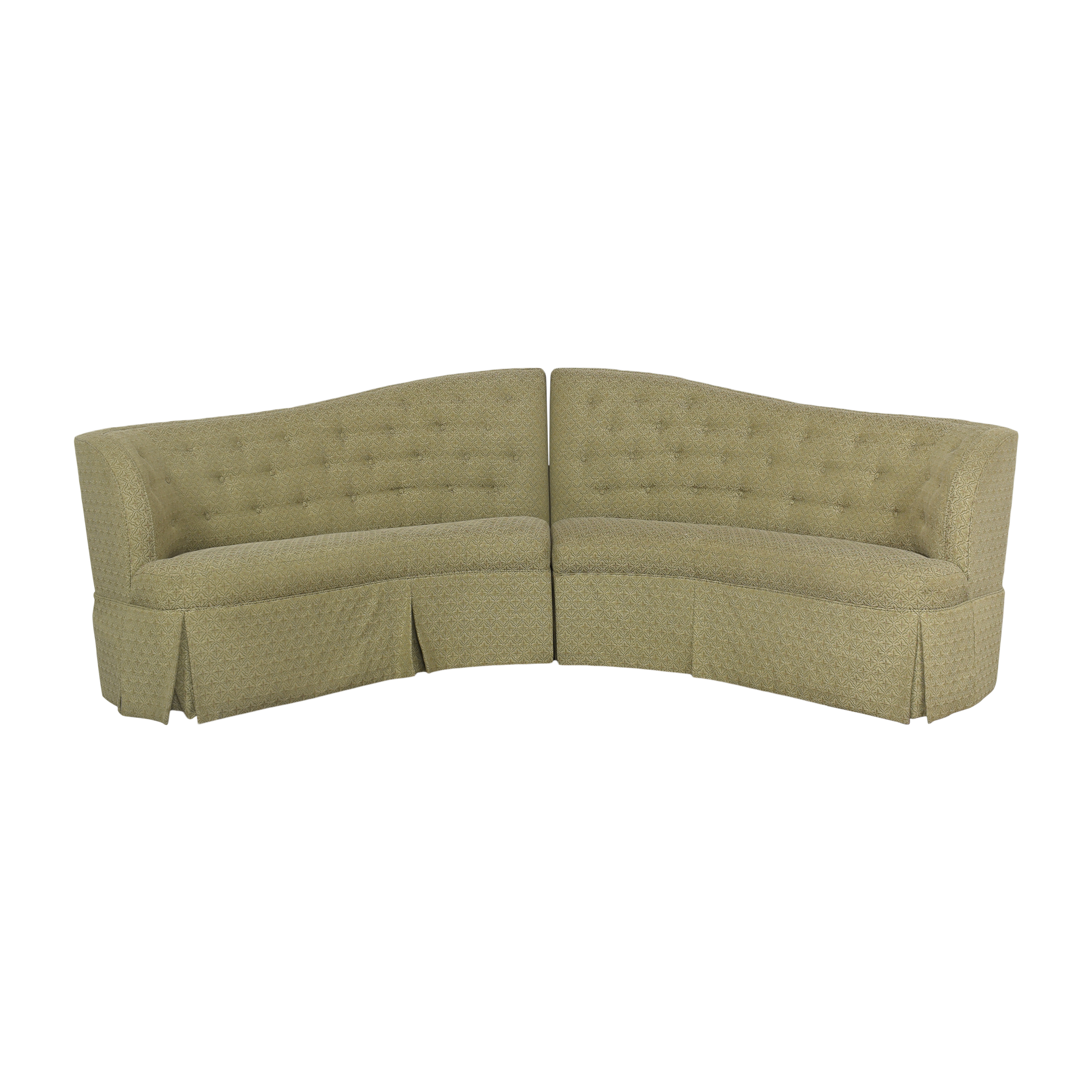 Thomasville Thomasville Curved Sectional Bench Sectionals