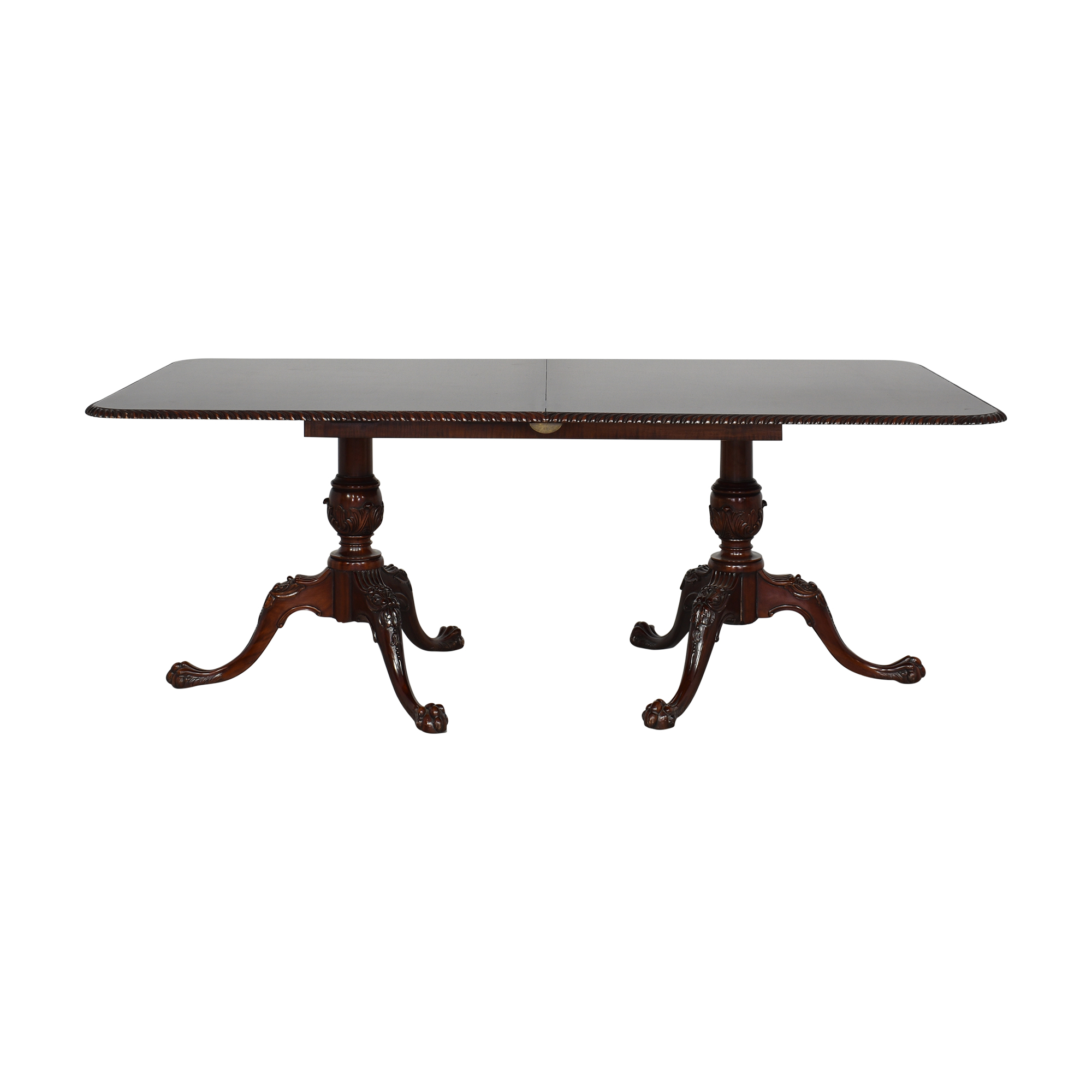 EuroLux Rope Edge Extendable Dining Table EuroLux