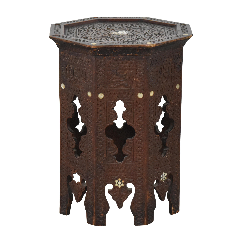 buy Vintage Octagonal Side Table  End Tables