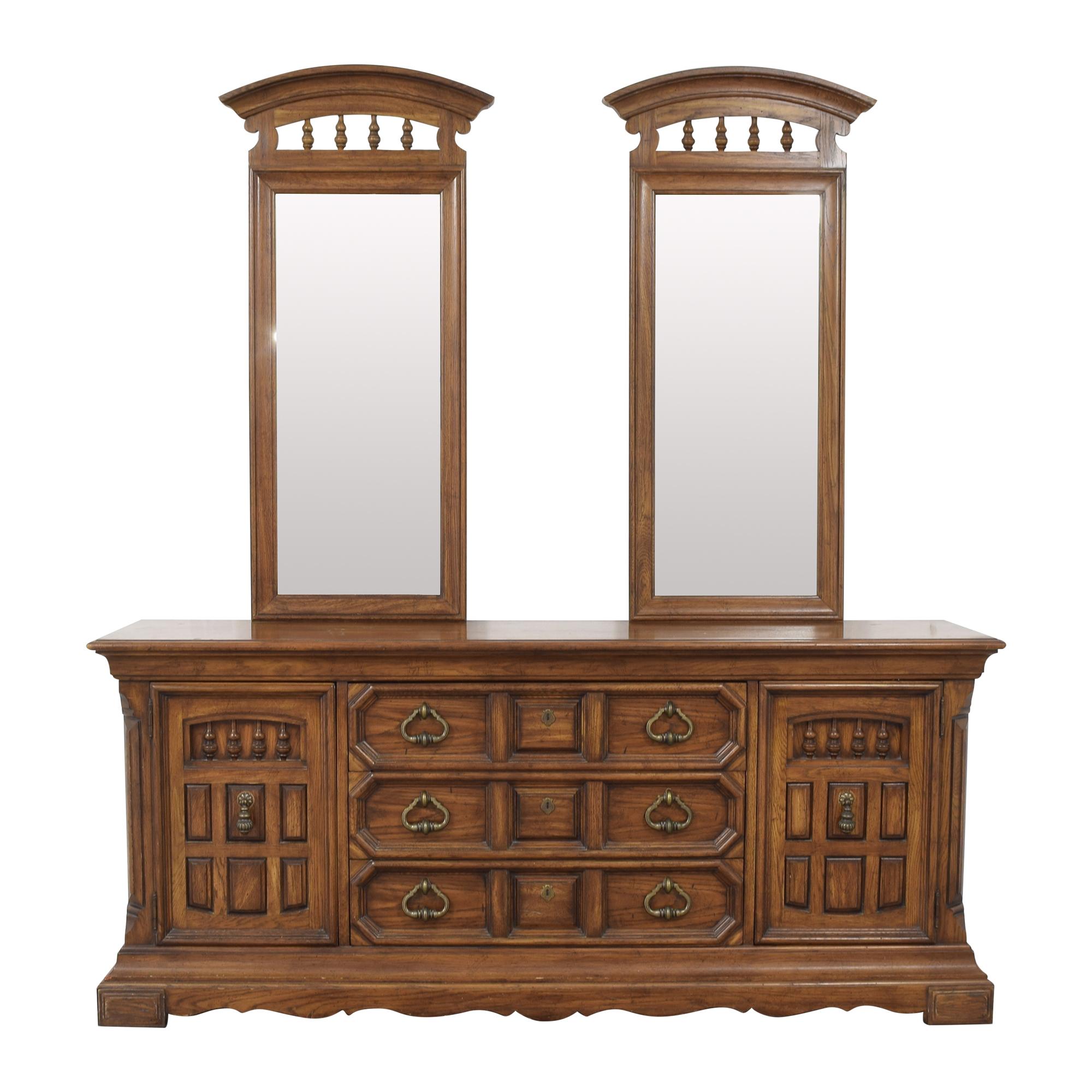 Thomasville Thomasville Triple Dresser with Mirrors on sale