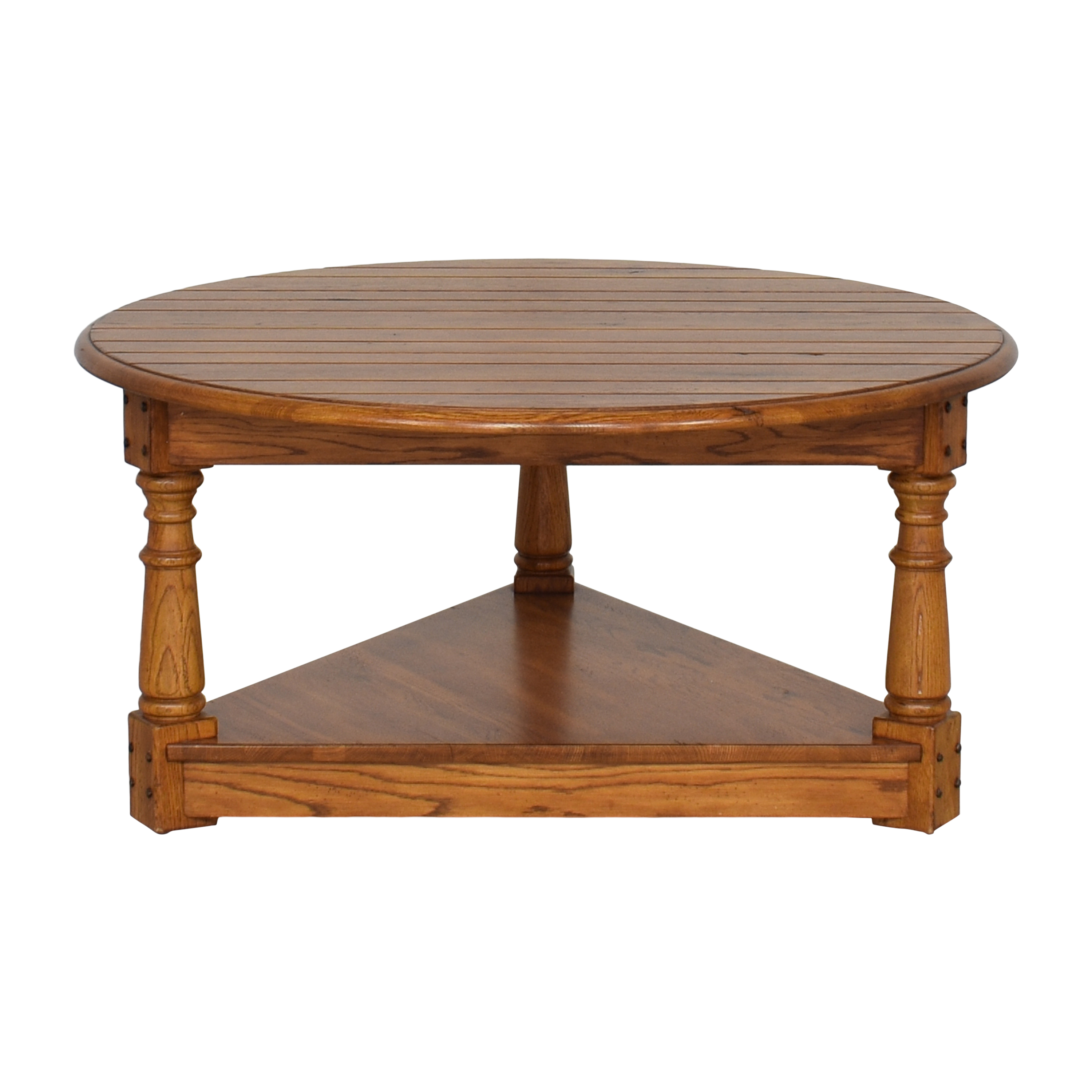 Vintage-Style Round Coffee Table ct