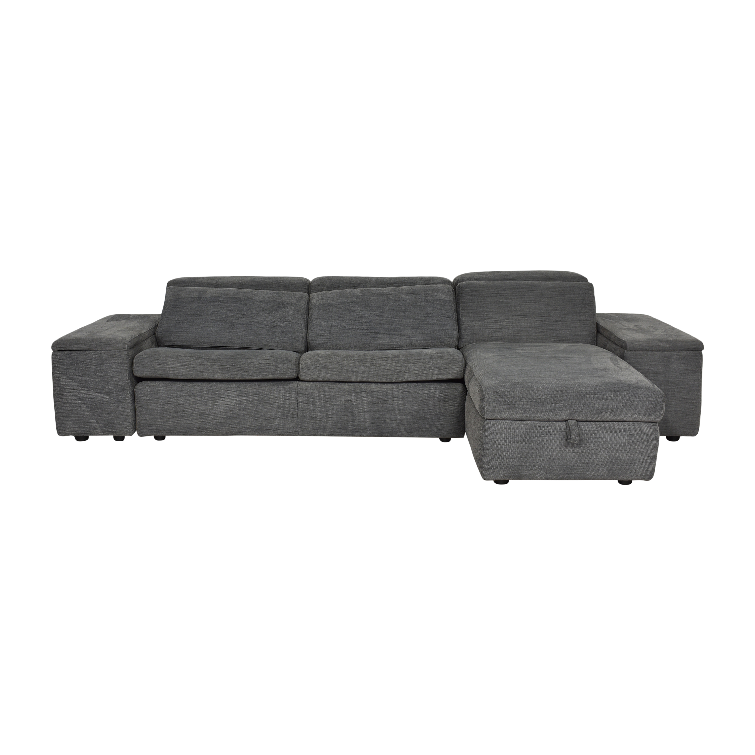 West Elm Enzo Sectional Sofa Sleeper with Storage / Sectionals