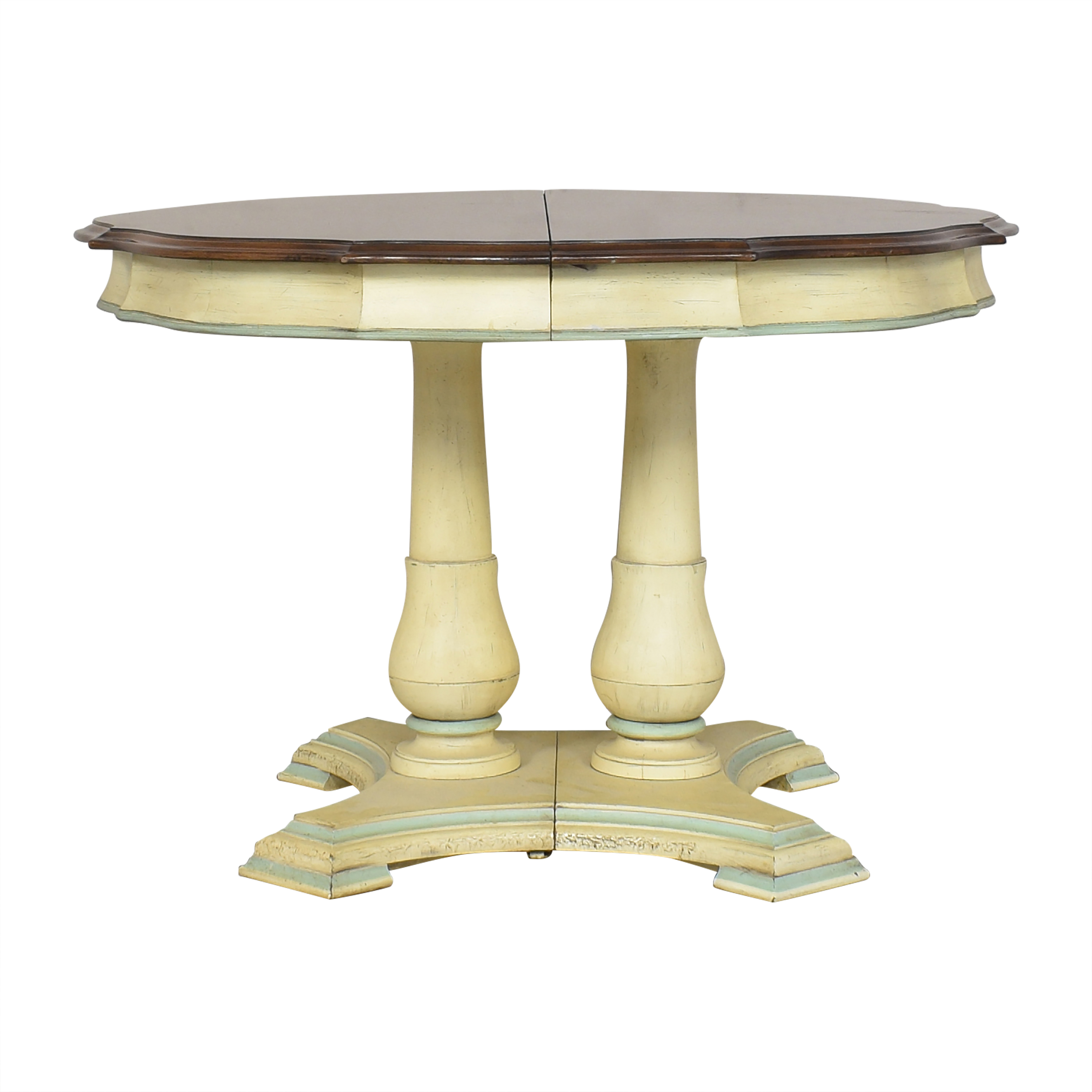 White Furniture Extendable Dining Table / Dinner Tables