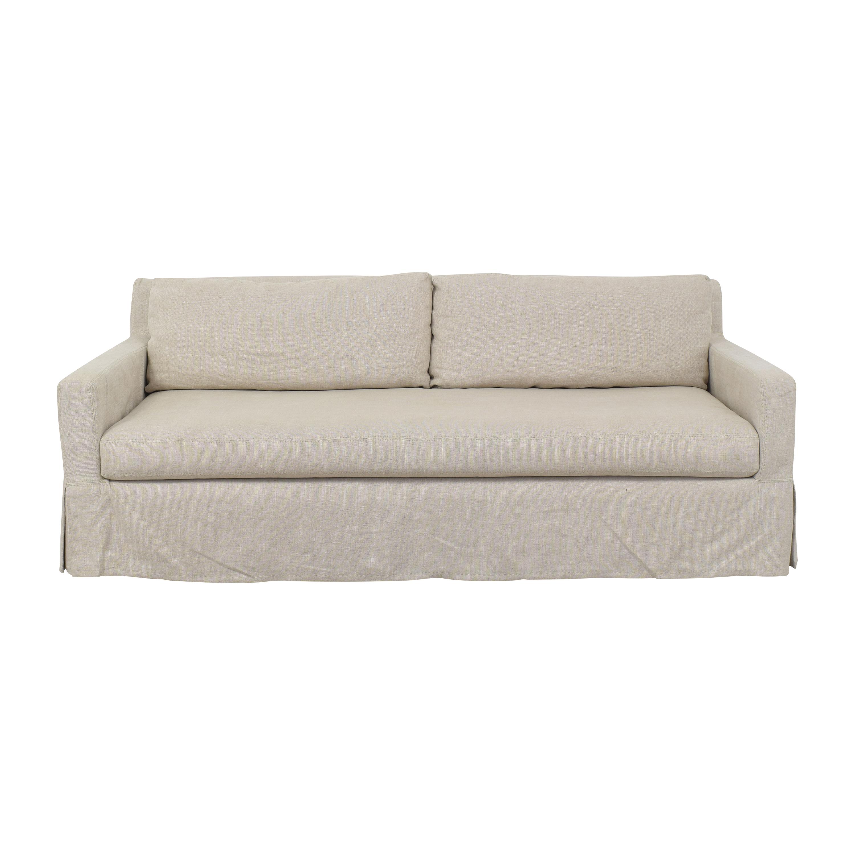 buy Restoration Hardware Restoration Hardware Belgian Slope Arm Slipcovered Bench-Seat Sofa online