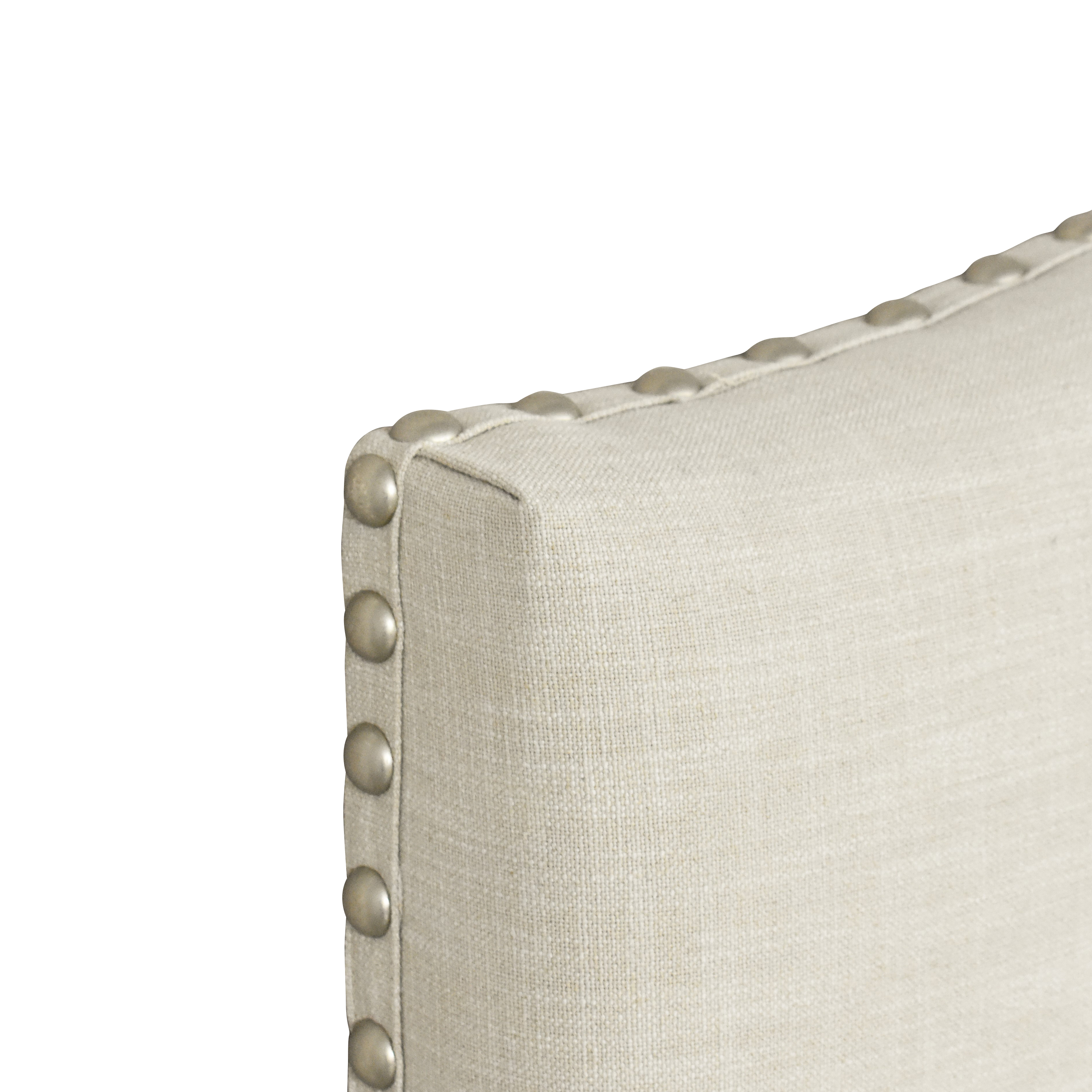 Pottery Barn Pottery Barn Raleigh Curved Upholstered Queen Headboard ma