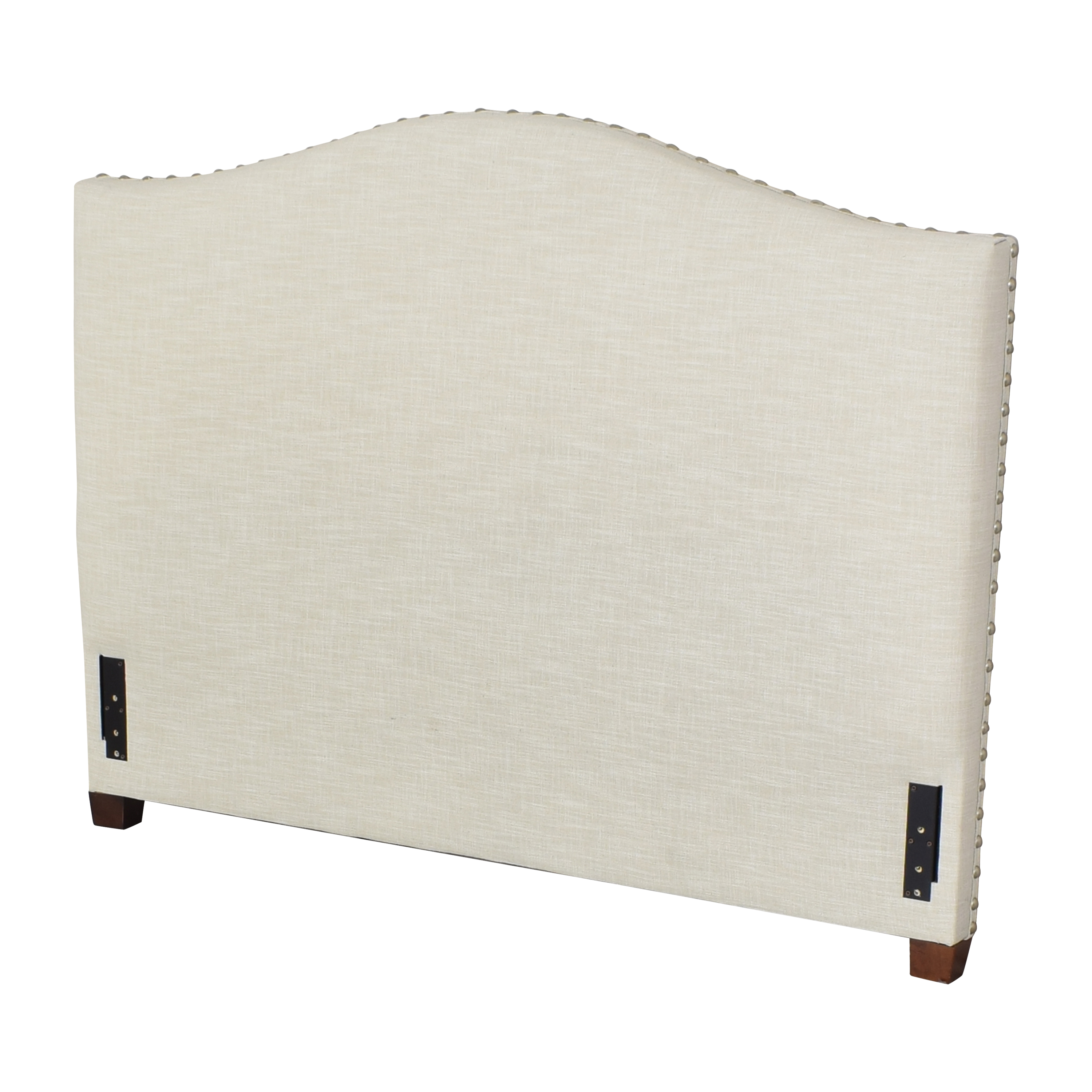 Pottery Barn Pottery Barn Raleigh Curved Upholstered Queen Headboard nyc