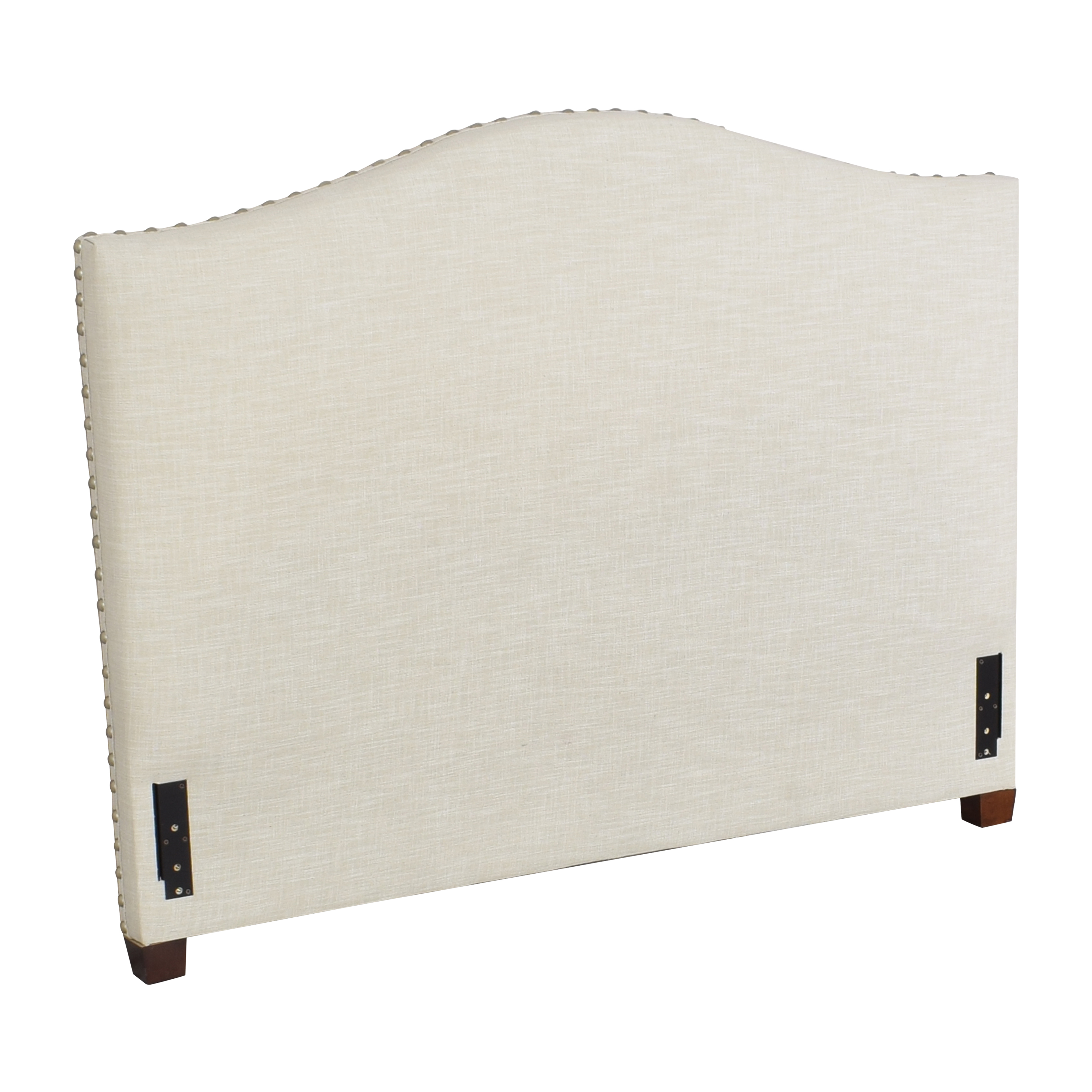 shop Pottery Barn Raleigh Curved Upholstered Queen Headboard Pottery Barn