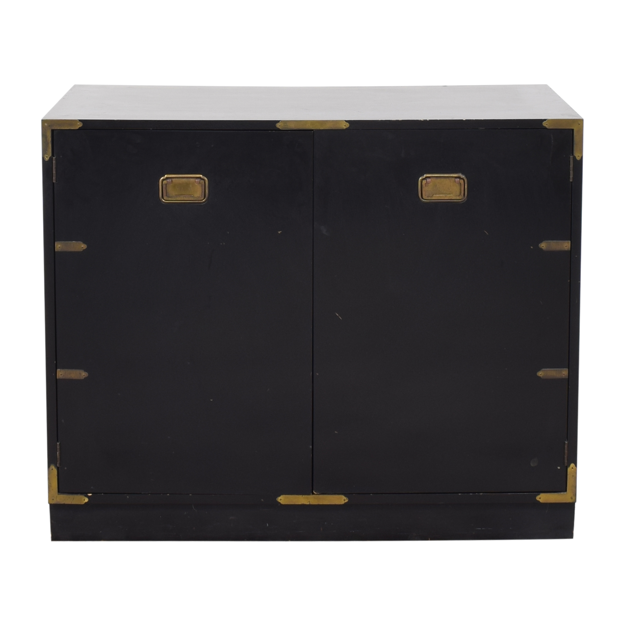 Campaign-Style Two Door Cabinet ma